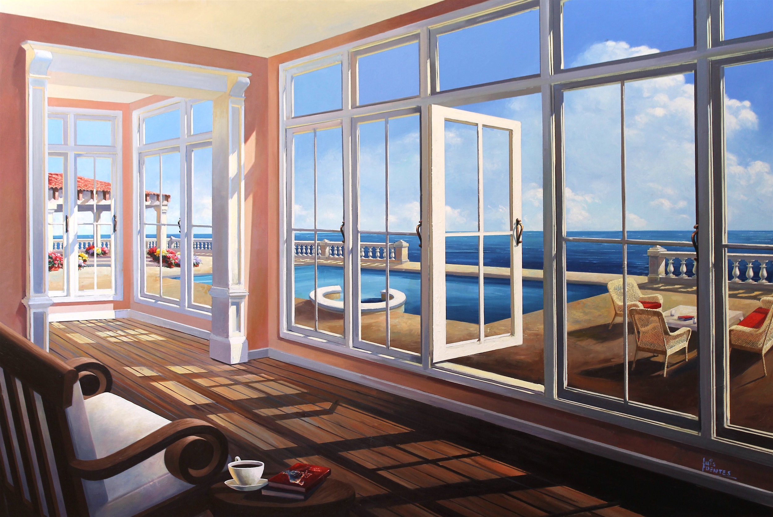 Luis Fuentes Afternoon by the Sea 100x150cm £5500.JPG