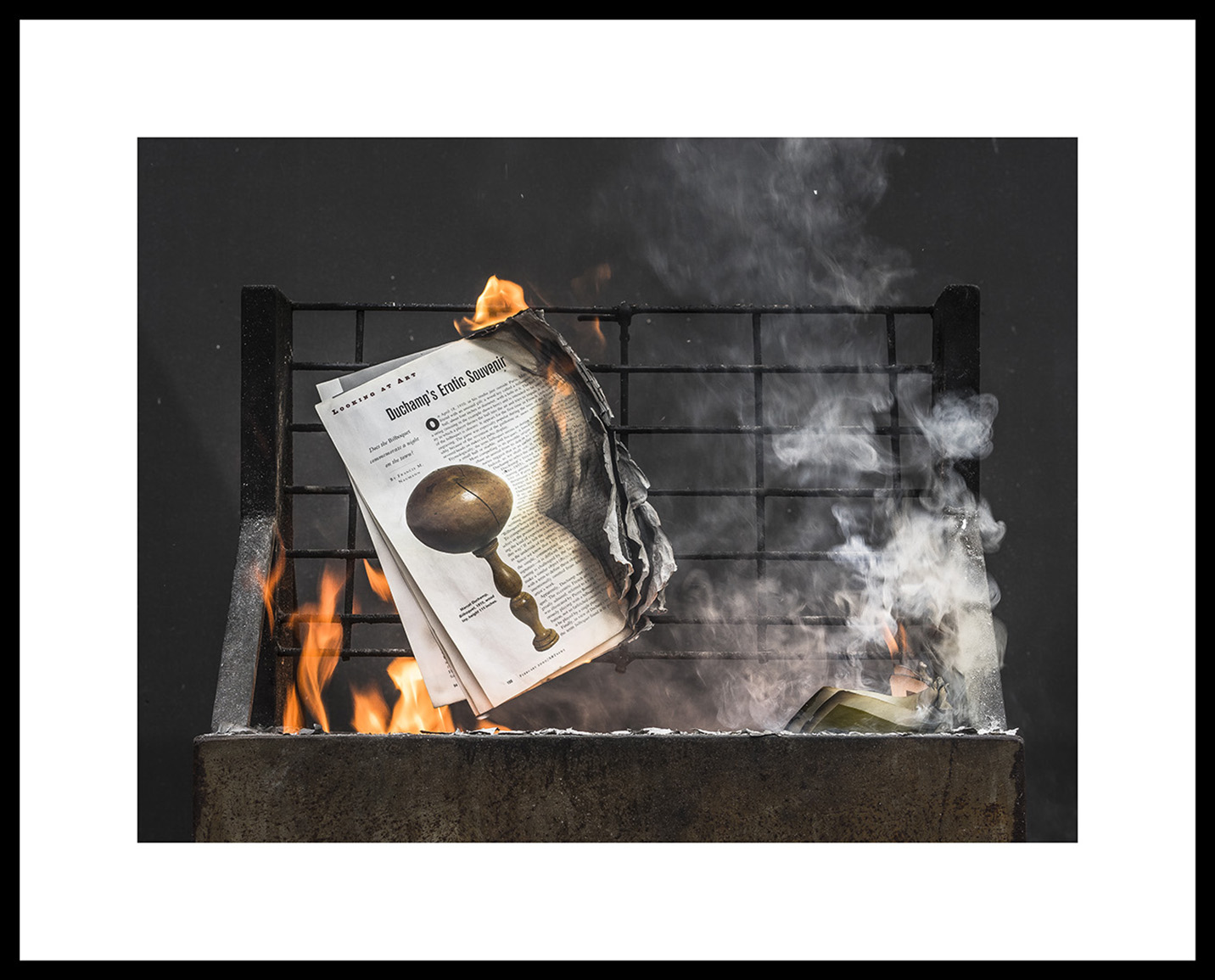 BWGPS_Gregory Perkel_Savonarola Suite_AN Feb 2000 #1545F, 2019_Archival ink jet print on Epson exhibition fiber paper_Framed_Edition 5_2AP_�3000_Courtesy of the Artist and Black & White Project Spac.jpg