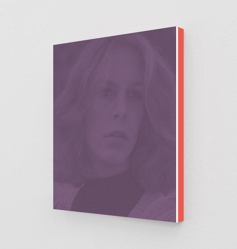 ClampArt_DanielHandal_Jamie Lee Curtis as Laurie (Mauve)_2019_Two-Color-Screenprint, Painted Museum Box_19x15x1.5in_Edition of 3 + 2 APs_Price starts at 1800USD.jpg