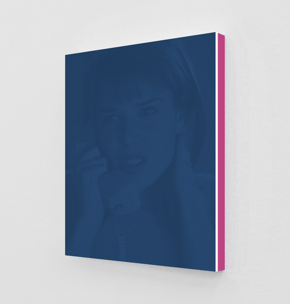 ClampArt_DanielHandal_Neve Campbell as Sidney (Ultramarine)_2019_Two-Color-Screenprint, Painted Museum Box_19x15x1.5in_Edition of 3 + 2 APs_Price starts at 1800USD.jpg