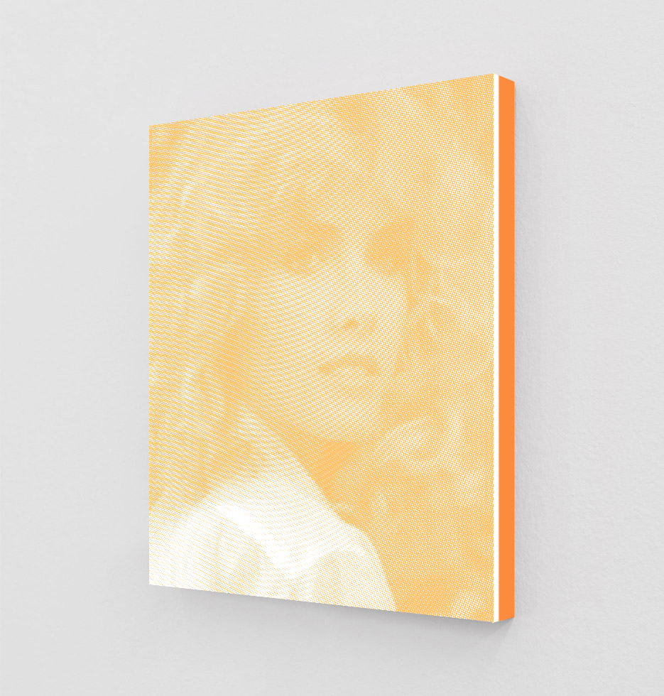 ClampArt_DanielHandal_Kimberly Beck as Trish (Cadmium Yellow)_2019_Two-Color-Screenprint, Painted Museum Box_19x15x1.5in_Edition of 3 + 1 AP_Price starts at 1800USD.jpg