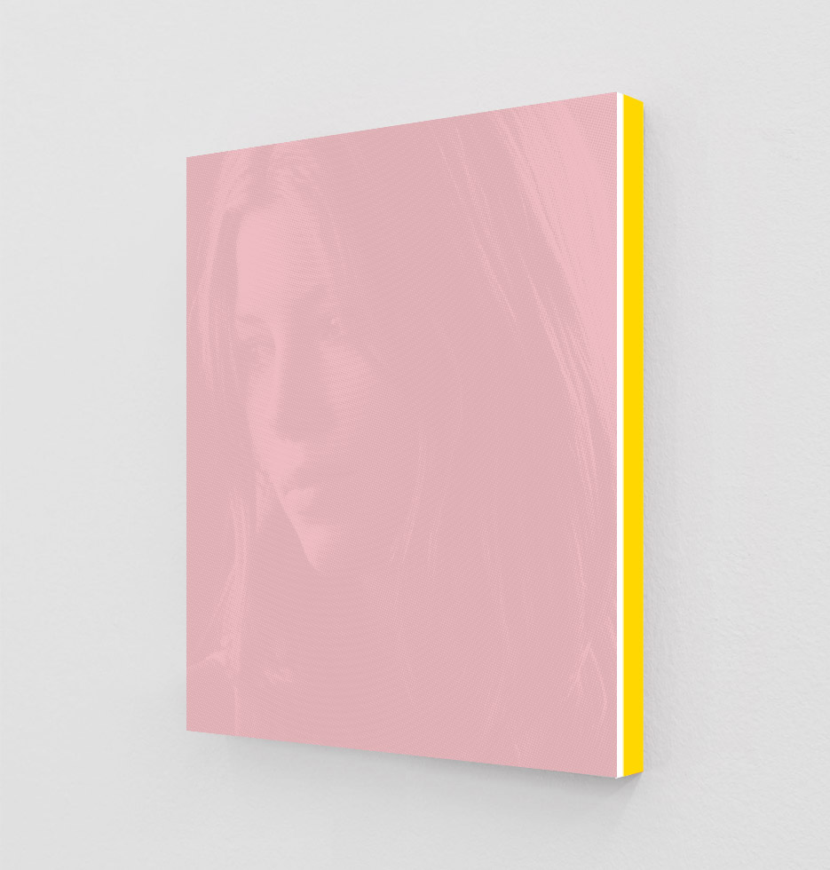 ClampArt_DanielHandal_Jessica Biel as Erin (Nantucket Red)_2019_Two-Color-Screenprint, Painted Museum Box_19x15x1.5in_Edition of 3 + 2 APs_Price starts at 1800USD.jpg