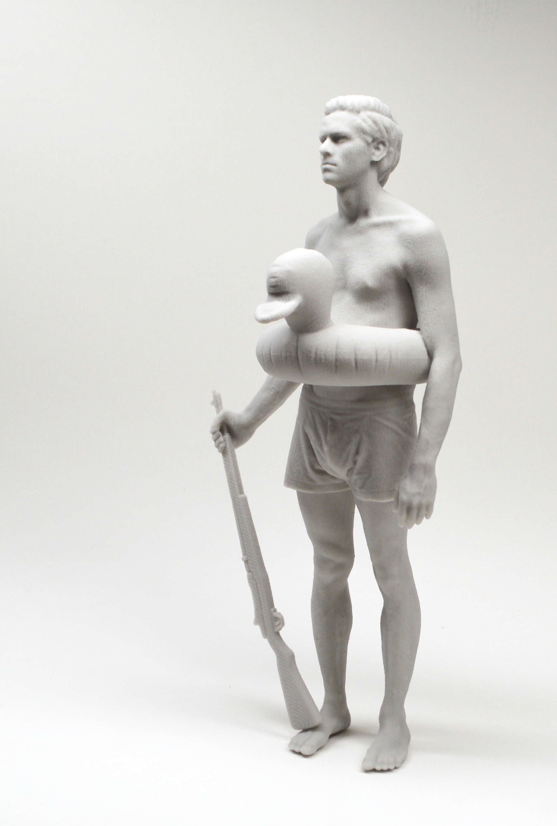 Art Mûr , Nicholas Crombach,  Hunter 2 , 2016, Gypsum, 9 x 4 x 4 in.