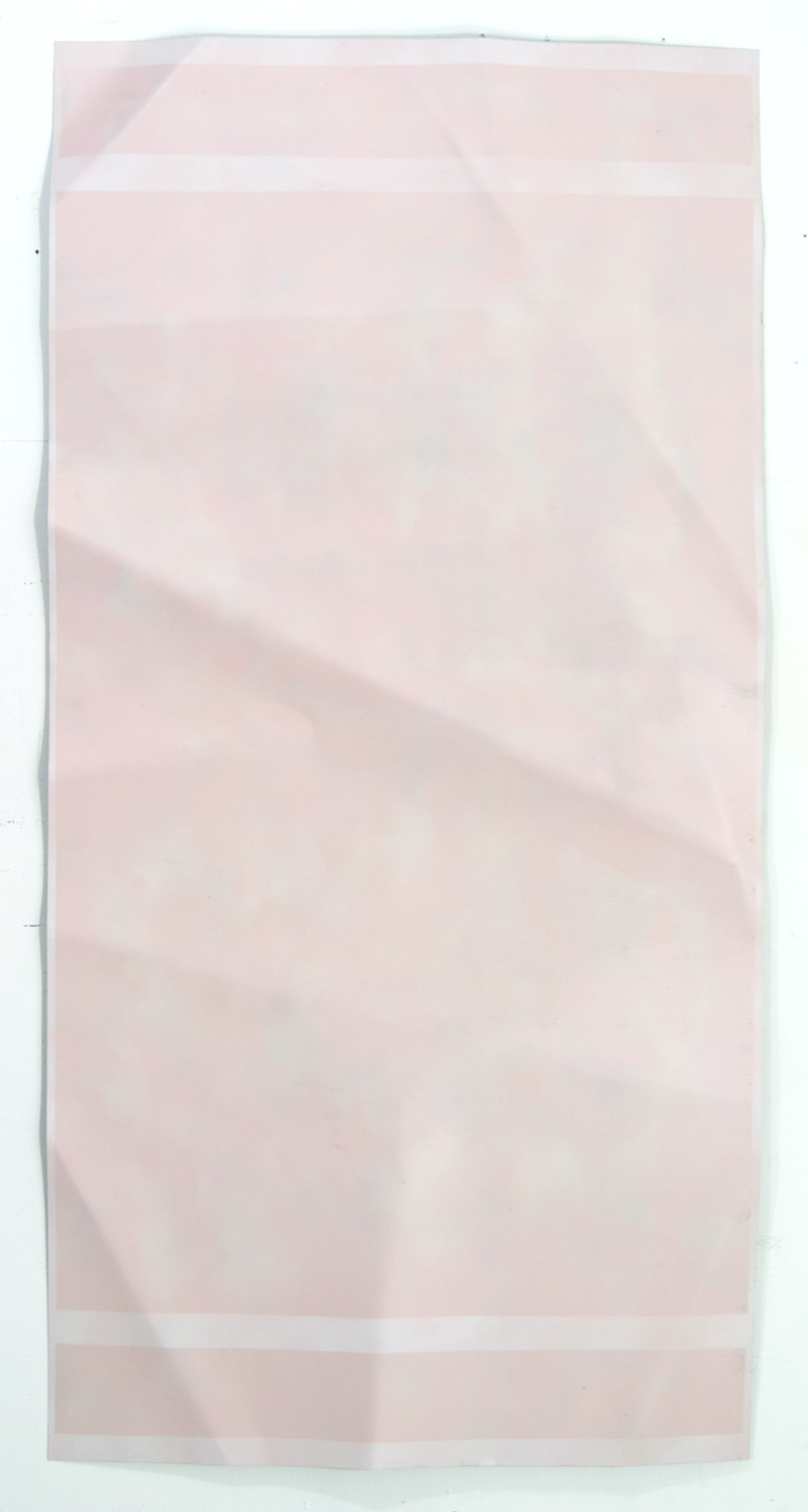 Hamiltonian Gallery , Brian Michael Dunn,  Pink Lie , 2015, Acrylic and enamel on steel, 28 x 48 in.