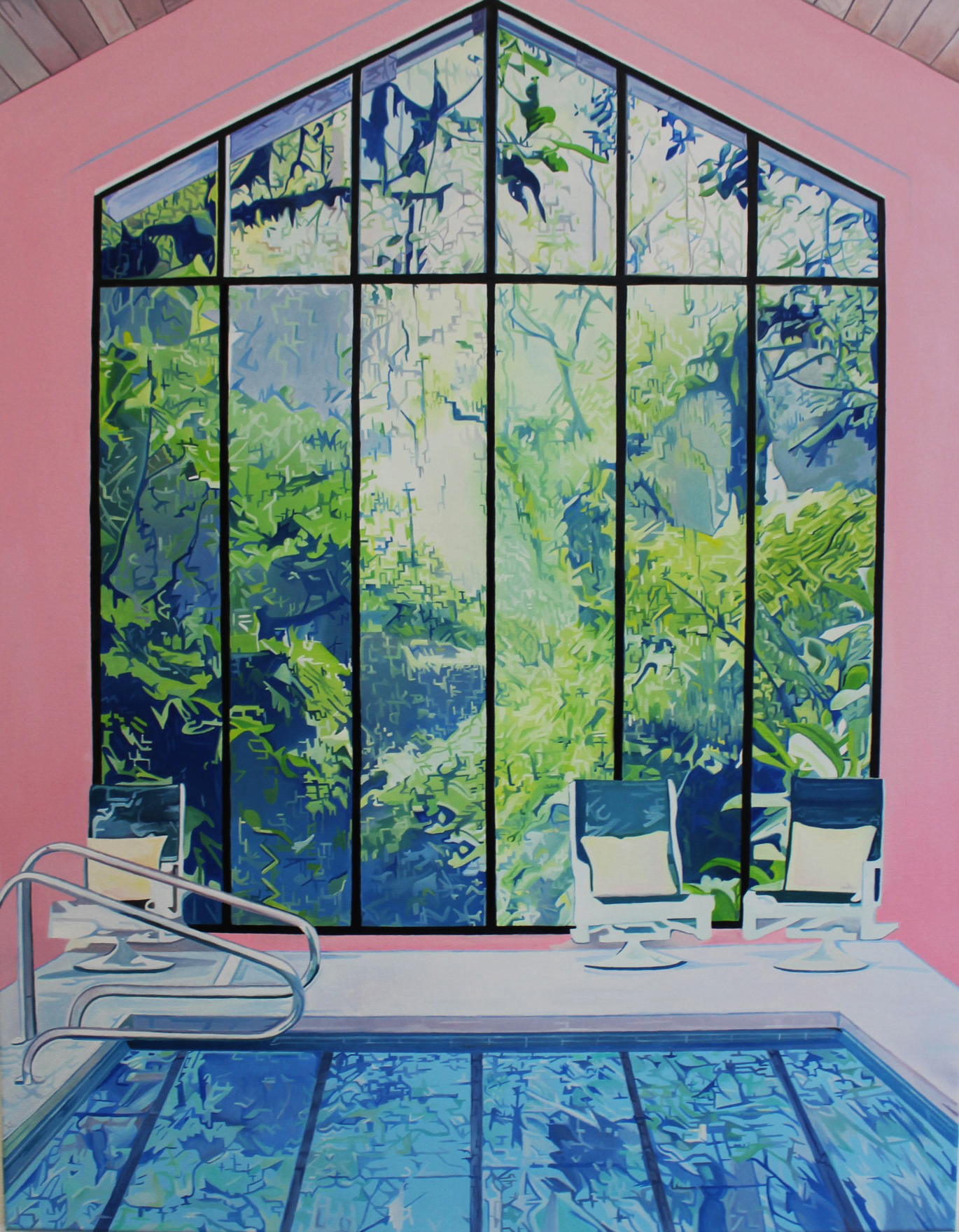 DegreeArt.com , Kirsty Simmons,  Breathtaking Hideaway , 2019, Oil on wooden panel, 35.5 x 27.5 in.