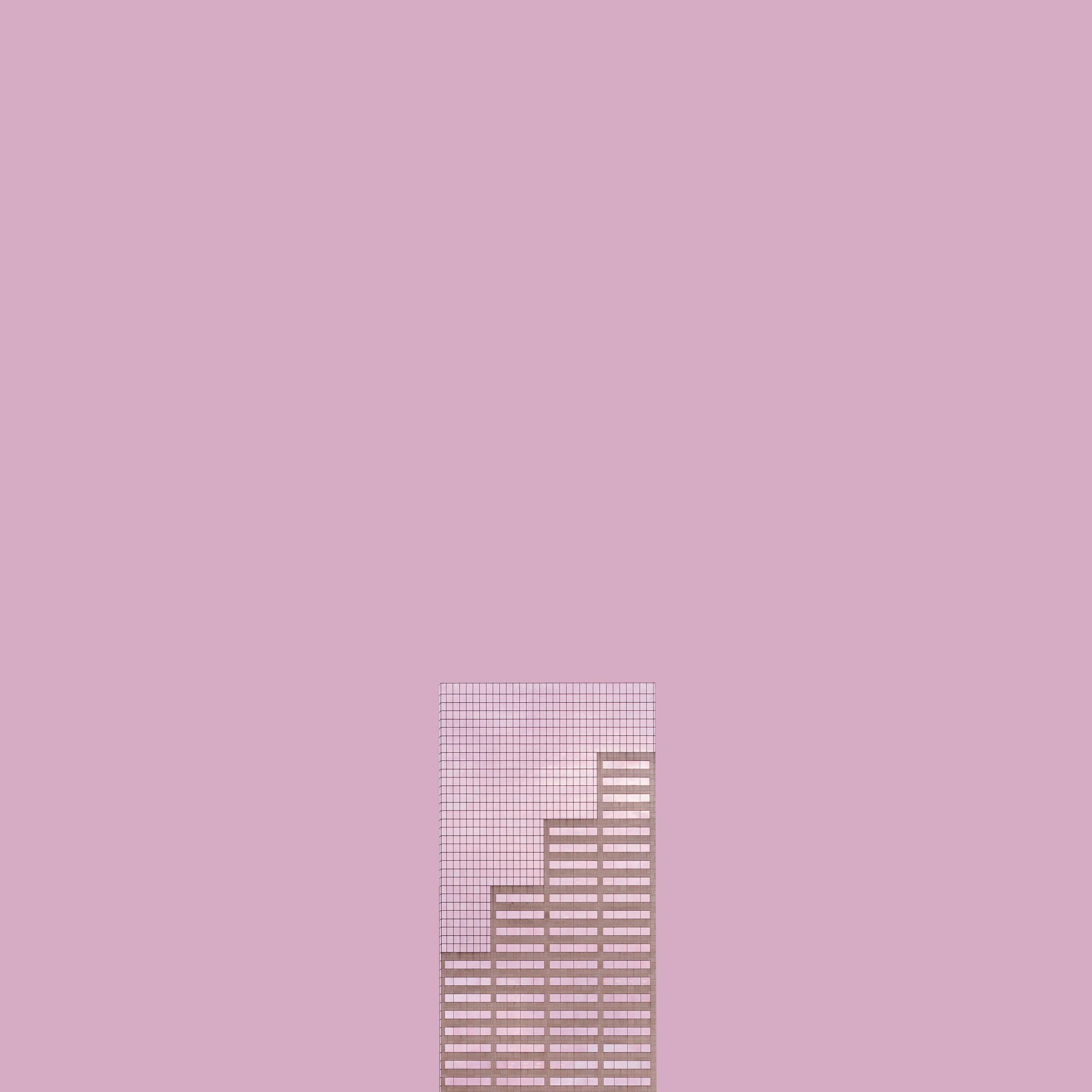 Niv Rozenberg - Big Pink Building - 12x12 Inches.jpg