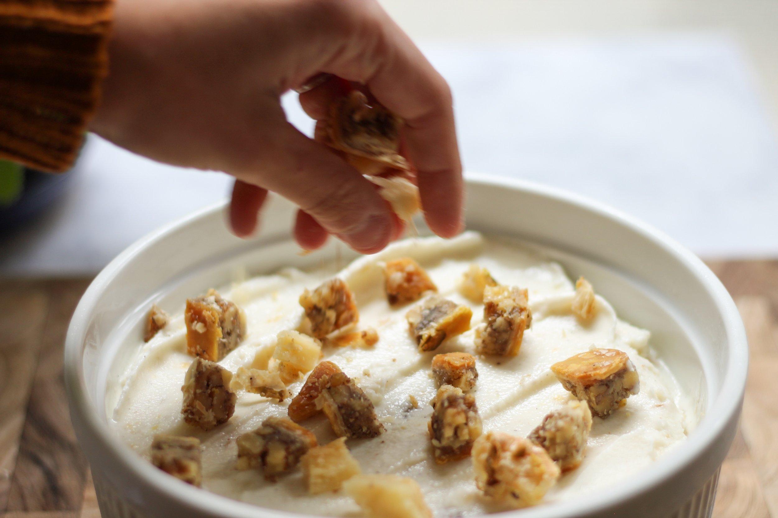 baklava frozen yogurt