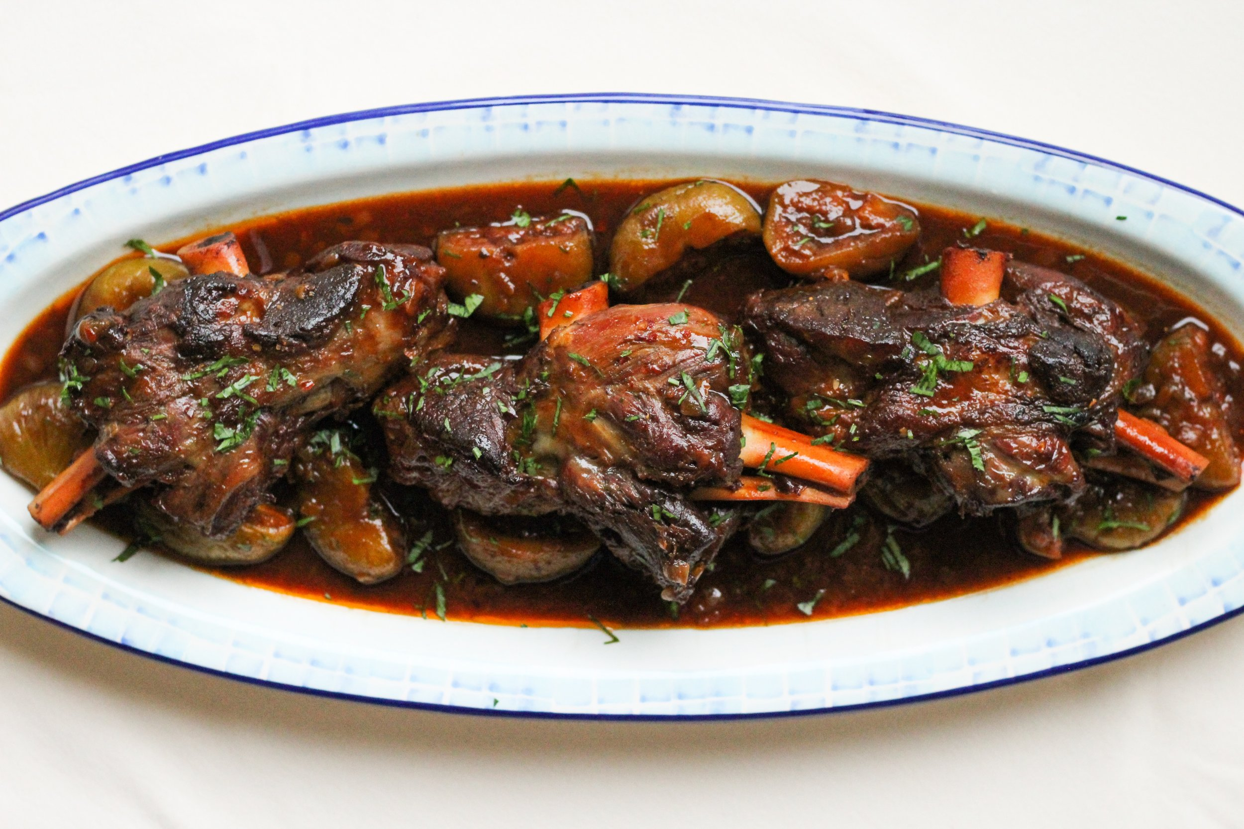 Pomegranate Fig Lamb Shanks