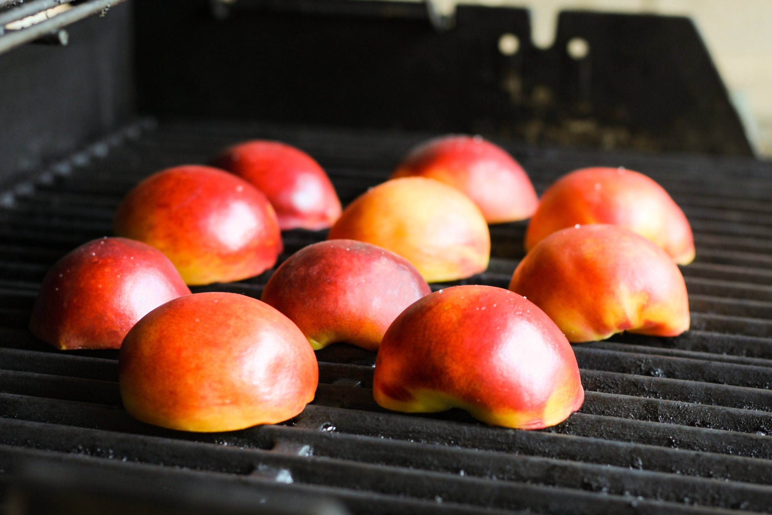 Grilled Peaches with Labneh, Mint, and Pine Nuts