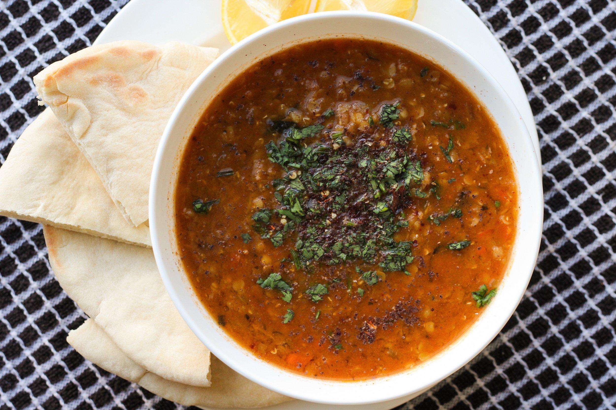 summer lentil soup