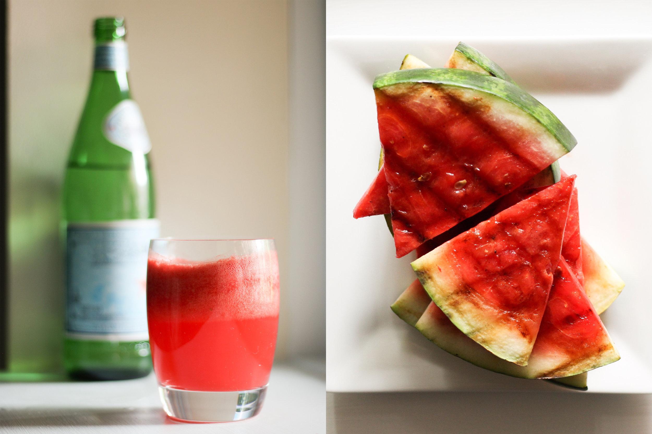 agua fresca & grilled melon