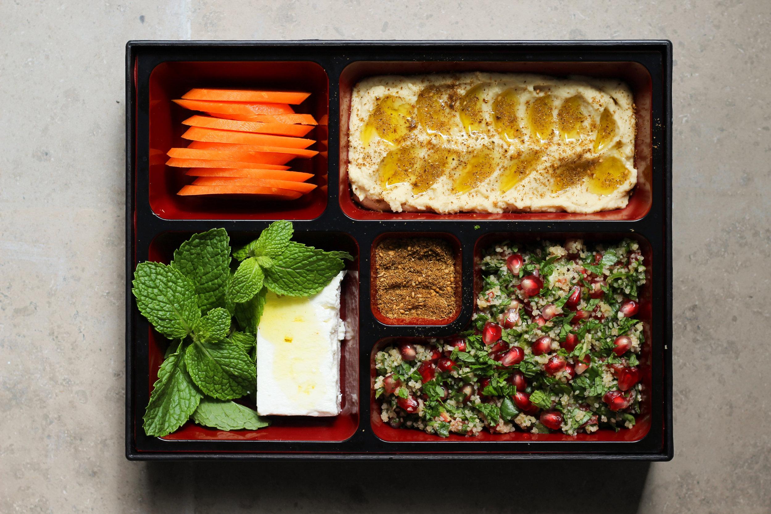 make ahead vegetarian lunch