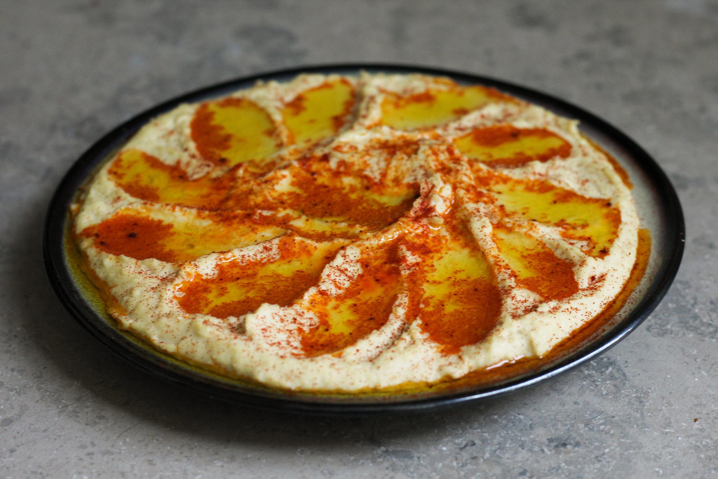 Earthy Roast Garlic Hummus
