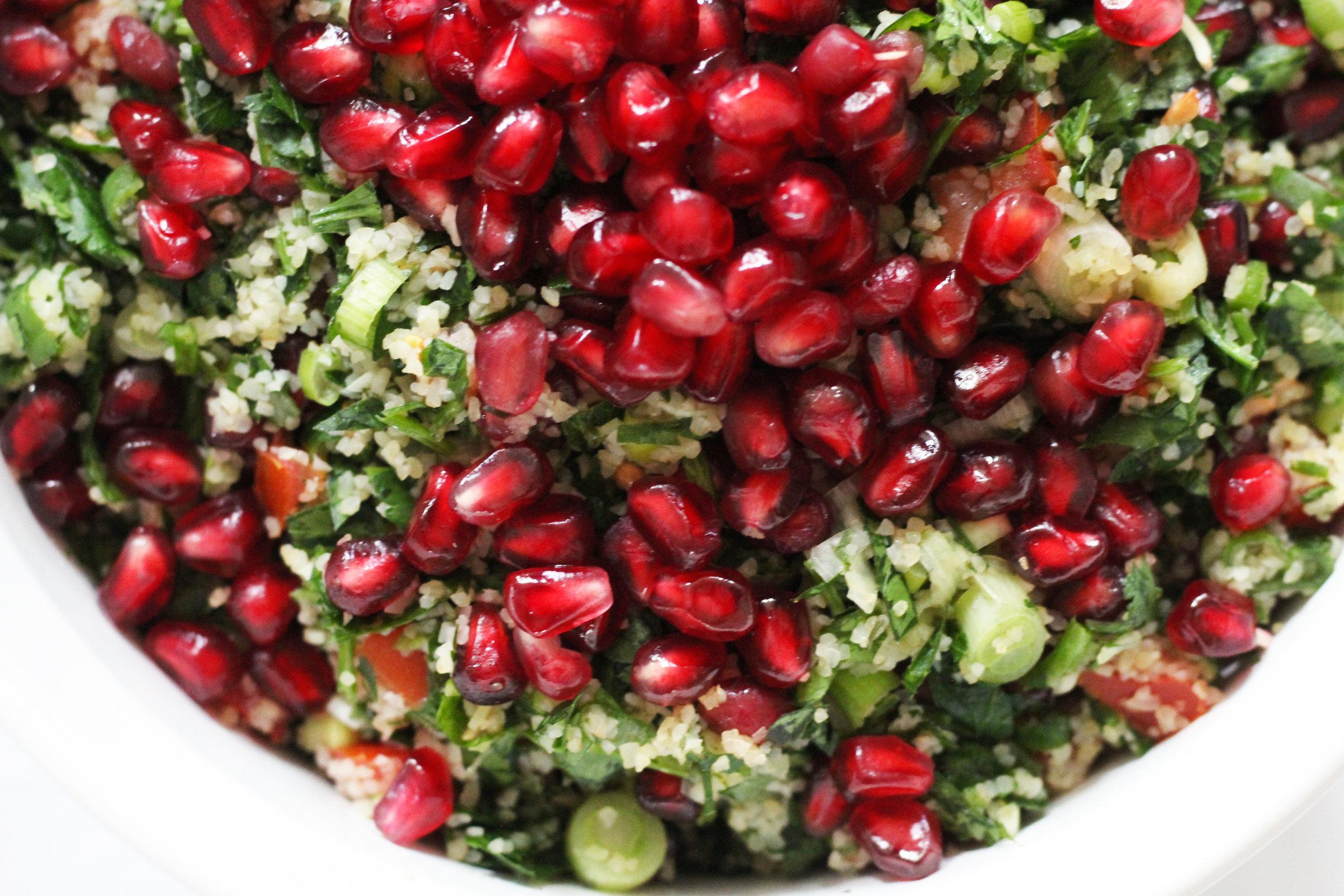 pomegranate tabbouleh