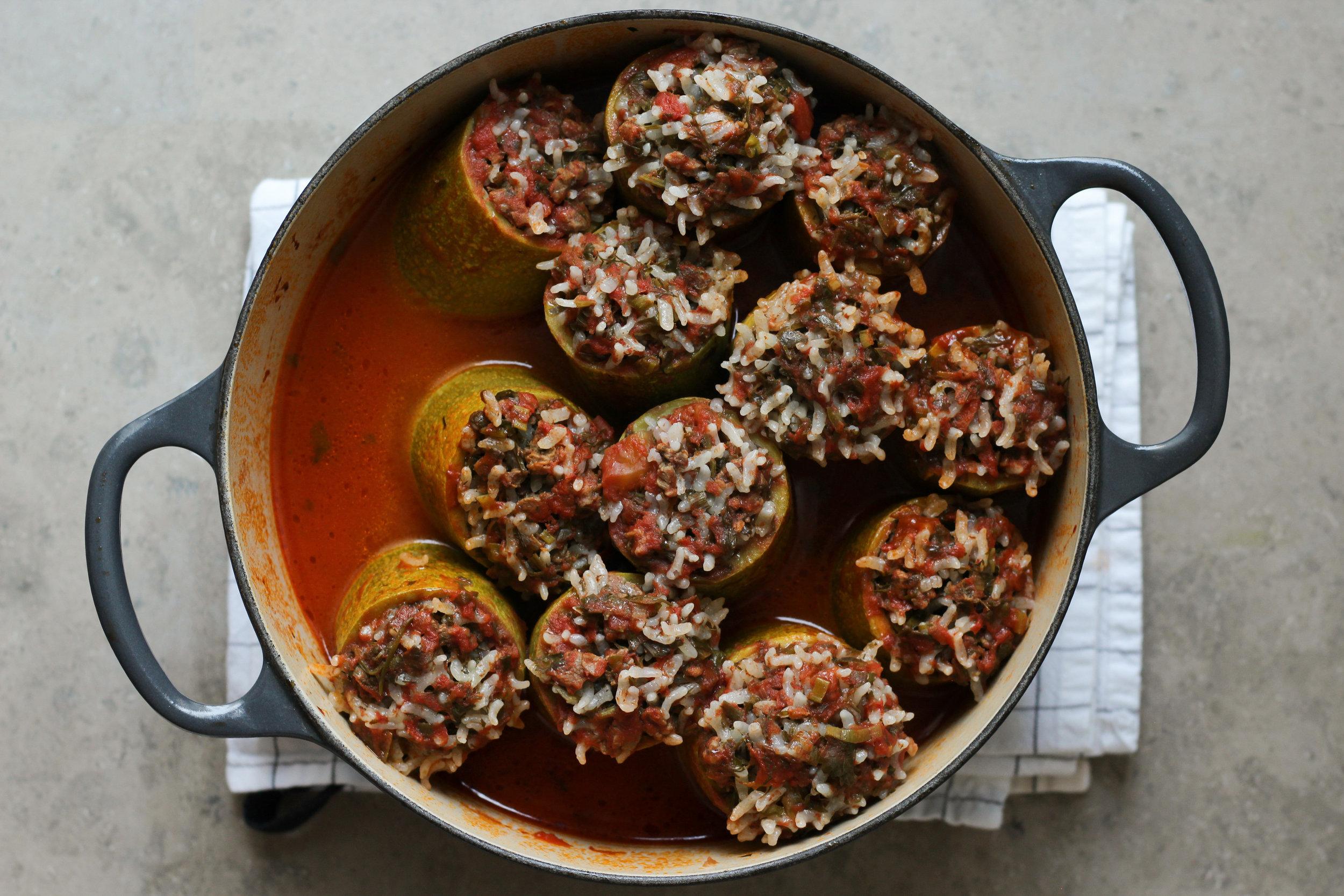 zucchini dolma | dolm'it koosa