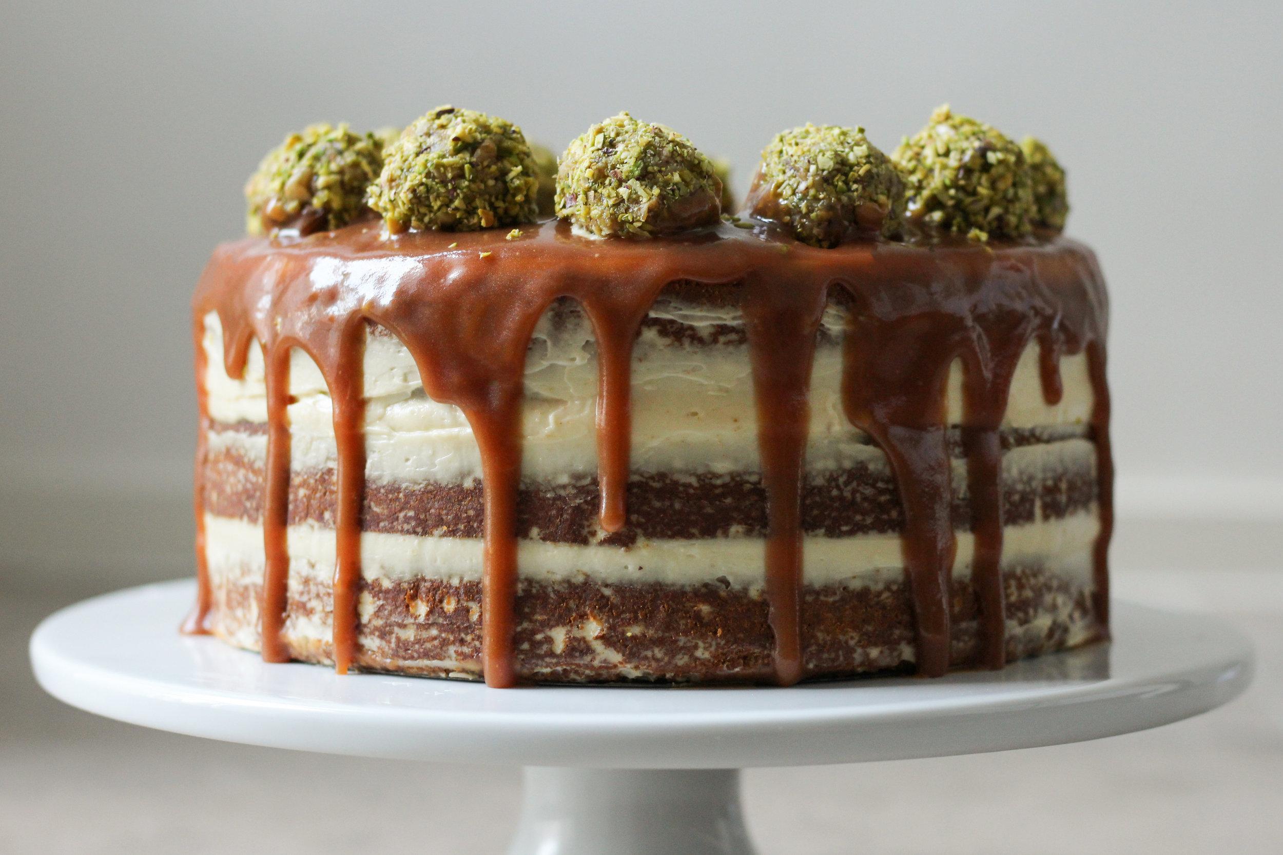 baklawa-filled cake