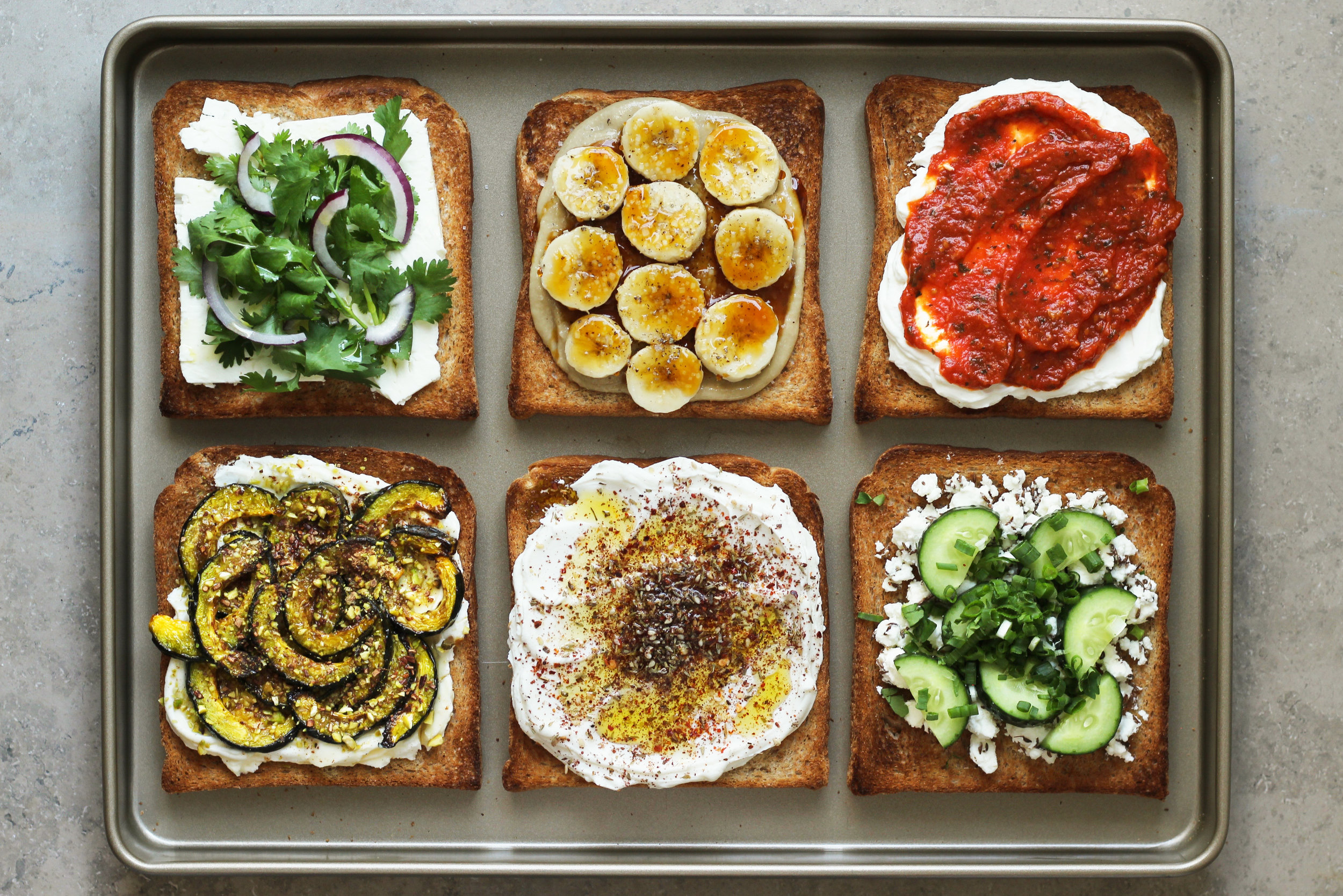 winter toast toppings