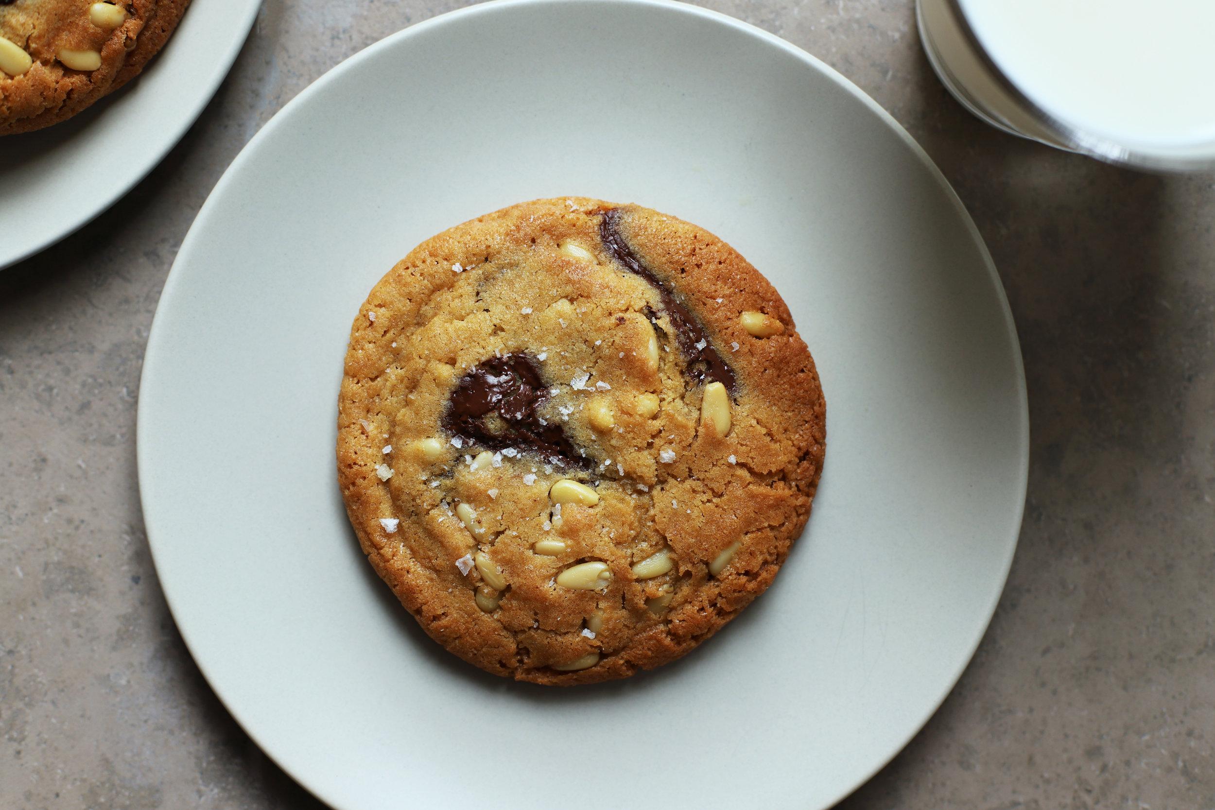chocolate pine nut cookies