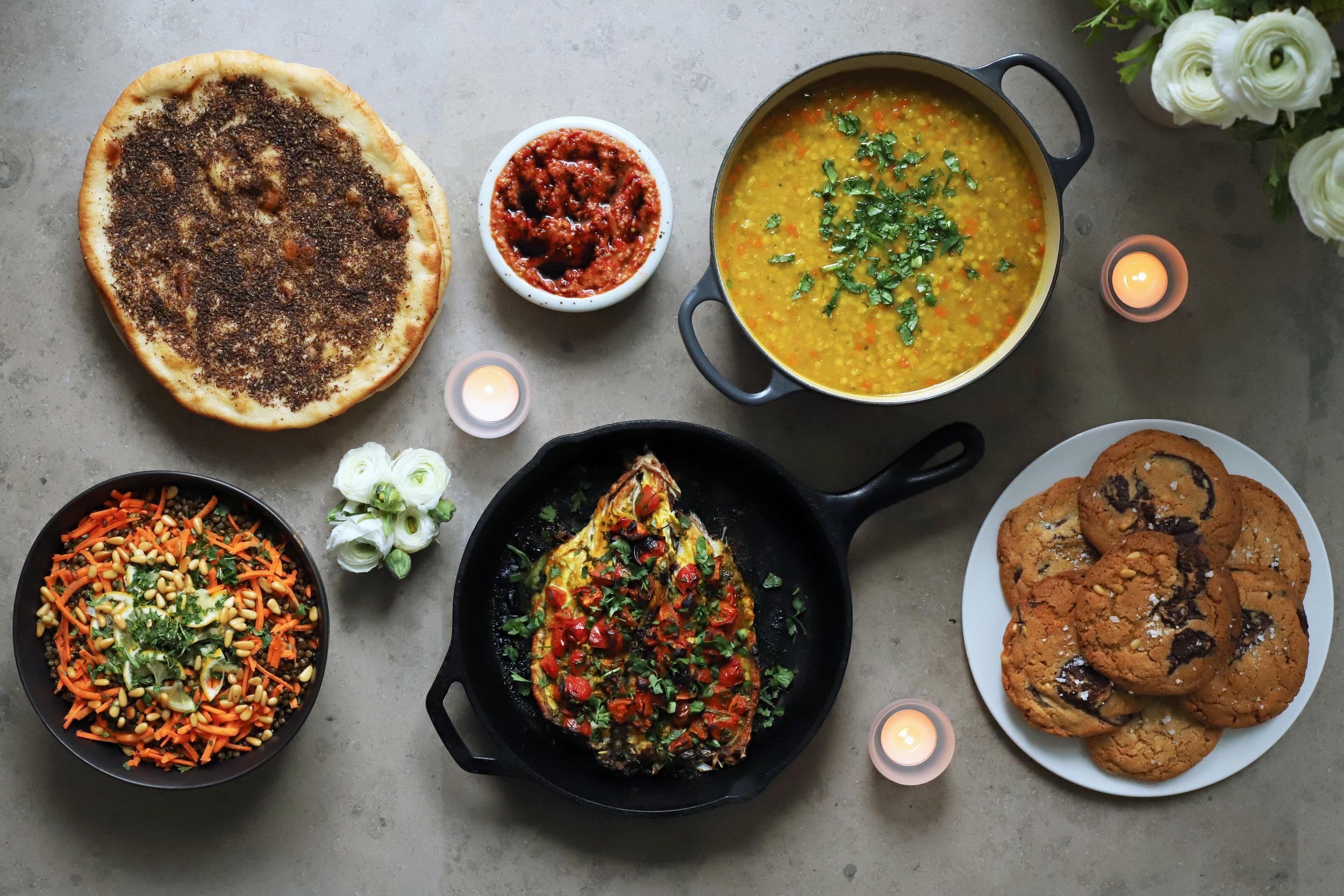 cook for syria menu