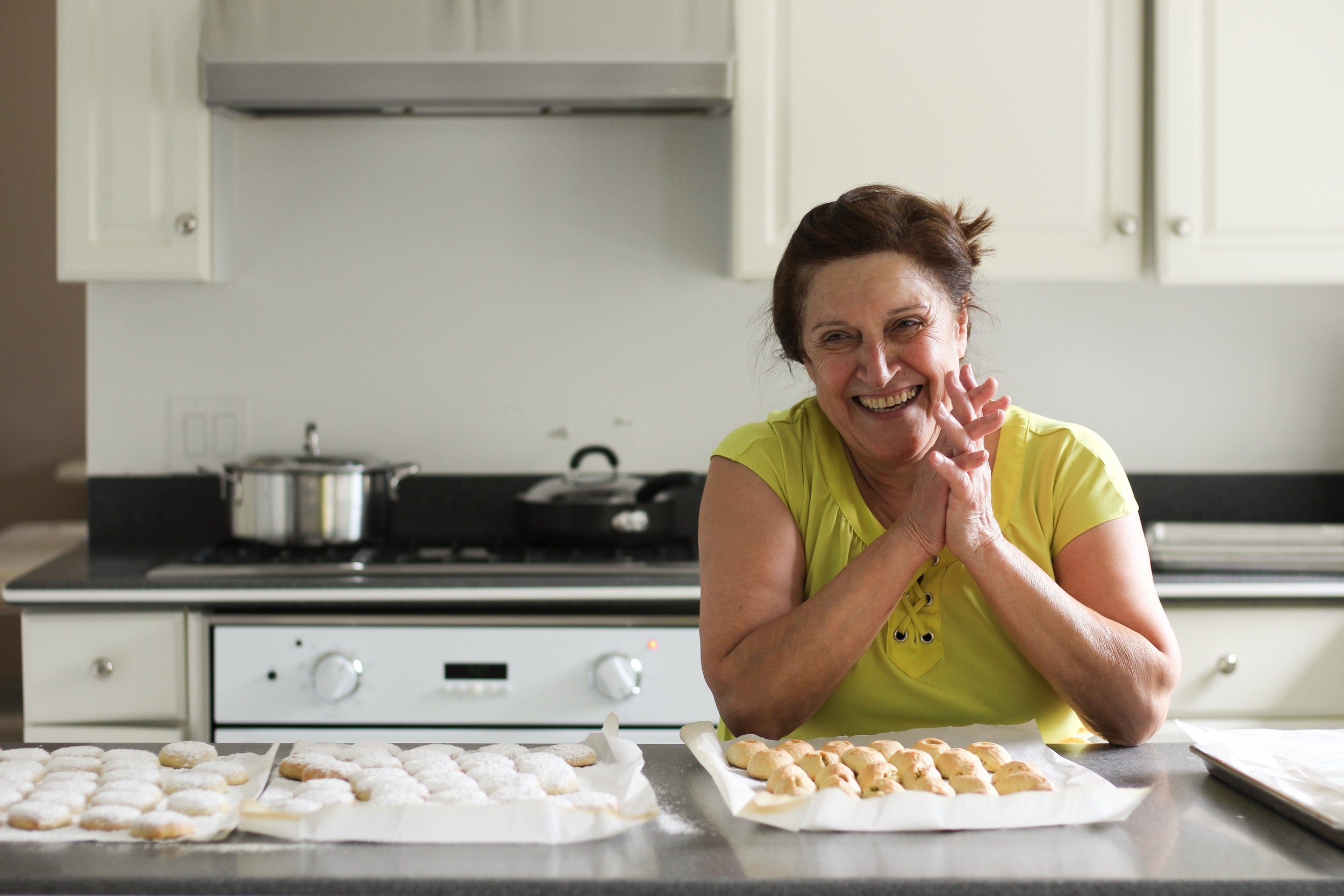 My auntie Geeto making ma'amoul