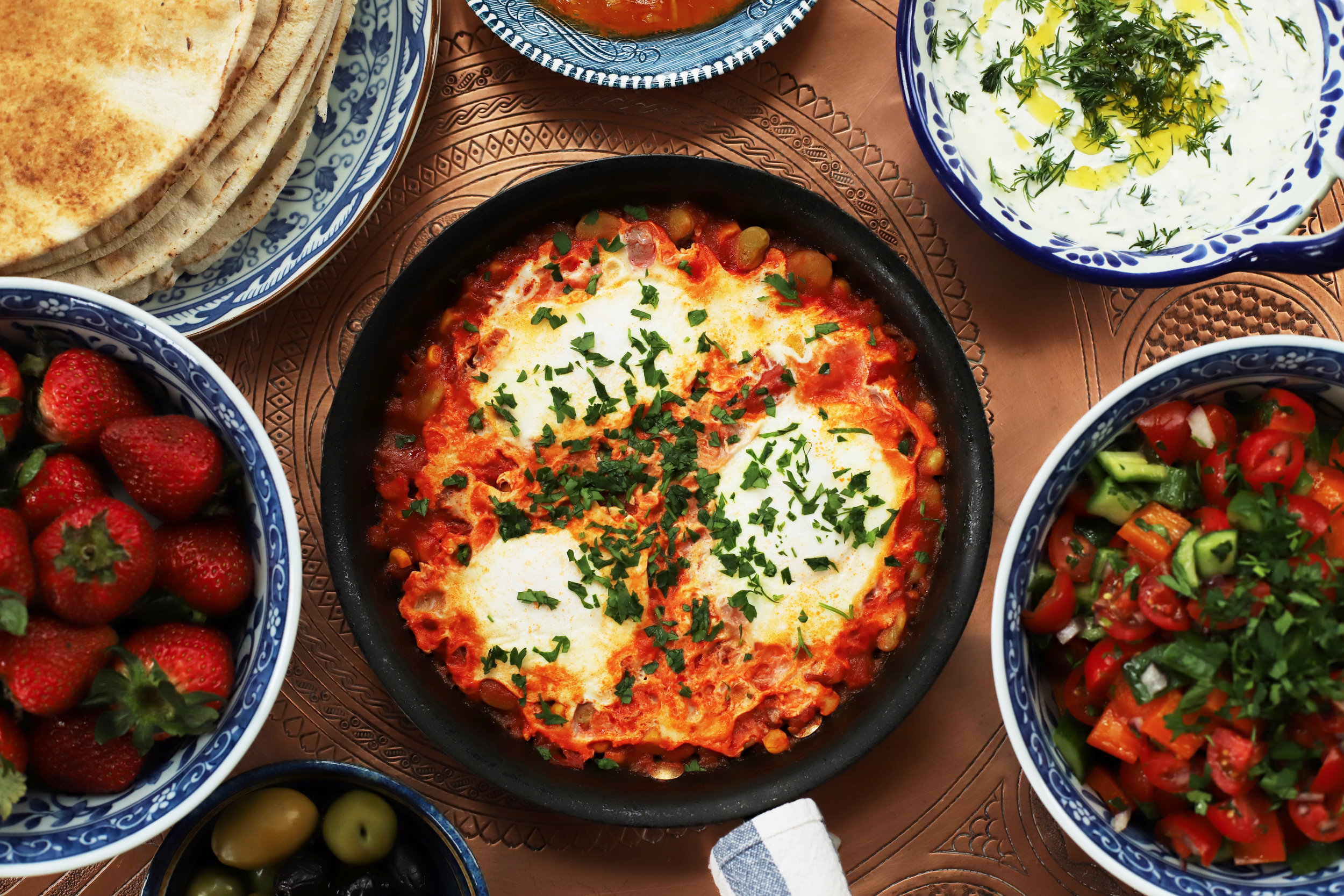 easy vegetarian breakfast meze