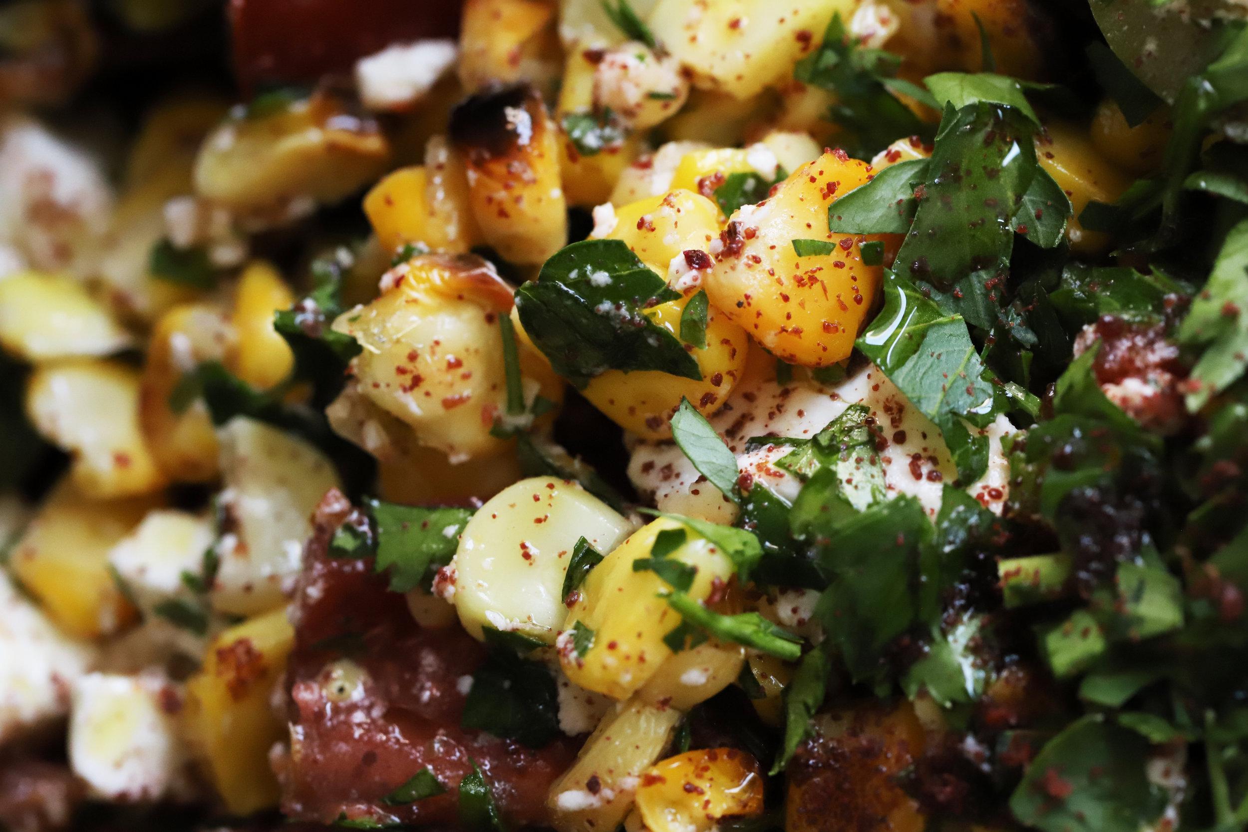corn and sumac salad