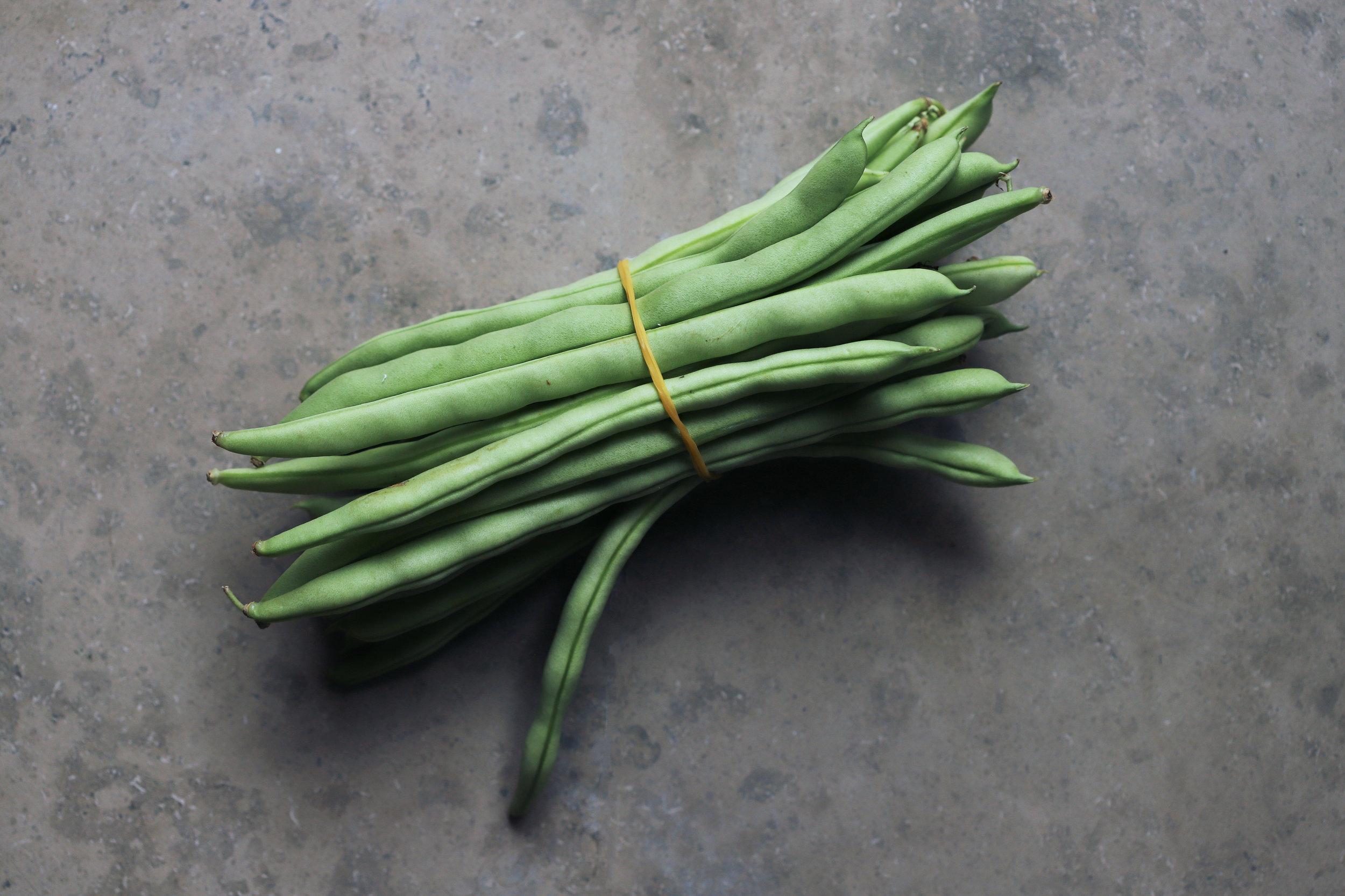 roast green bean salad