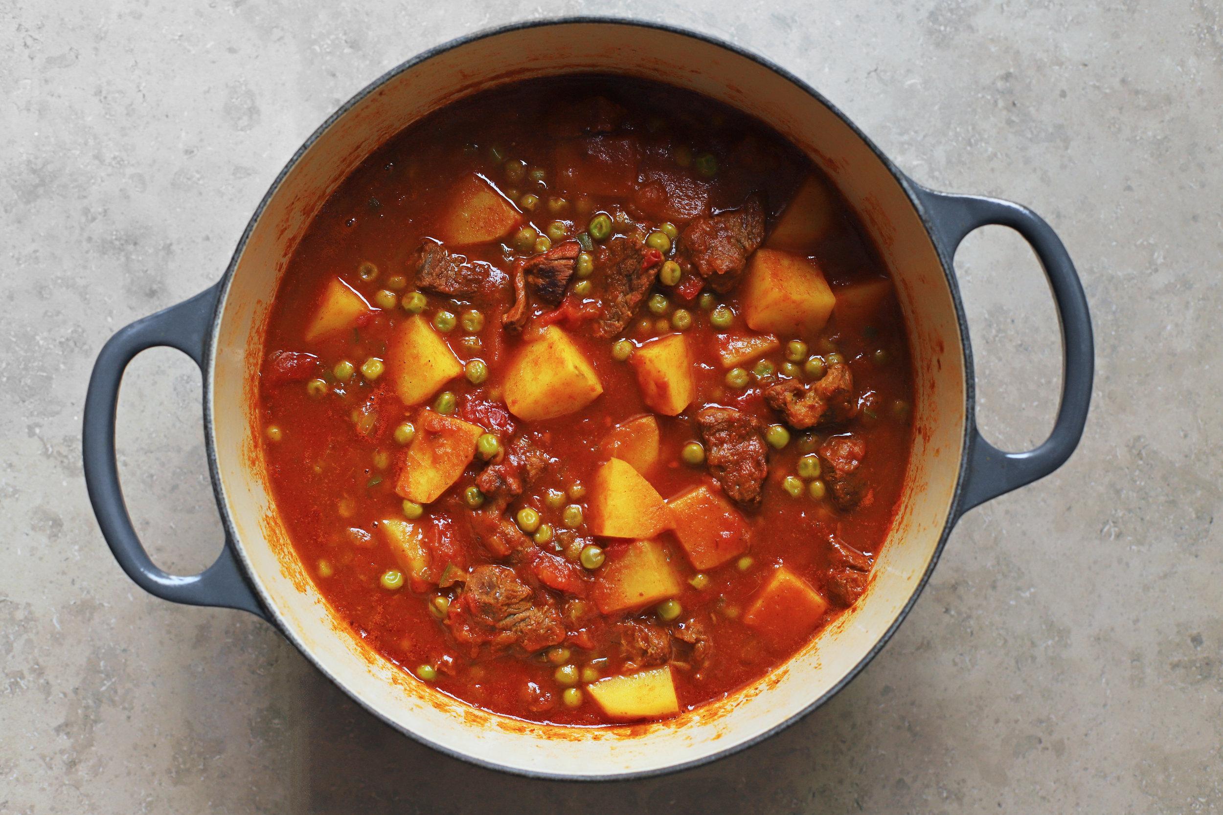 potato stew (shirw'it kirtopie)