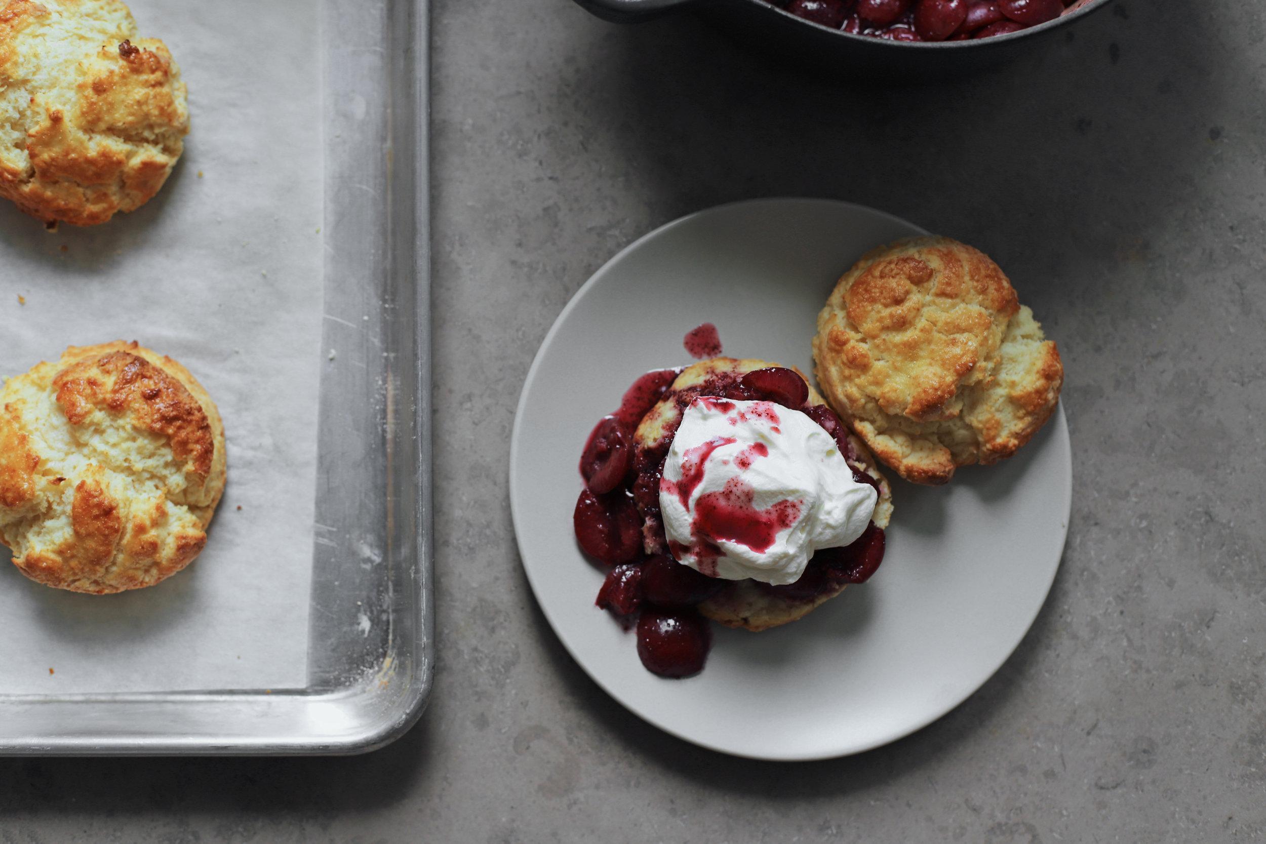 cherry sumac shortcakes