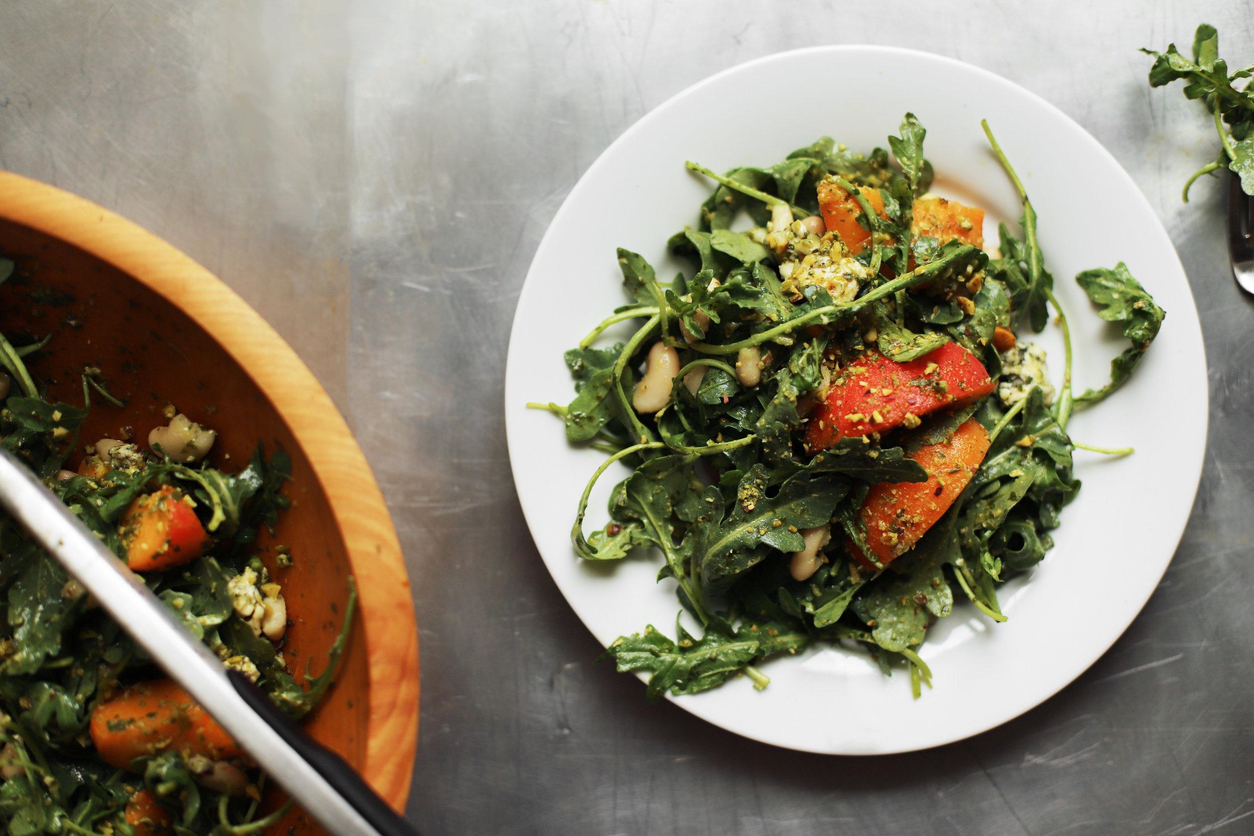 apricot pistachio salad with cilantro lemon dressing