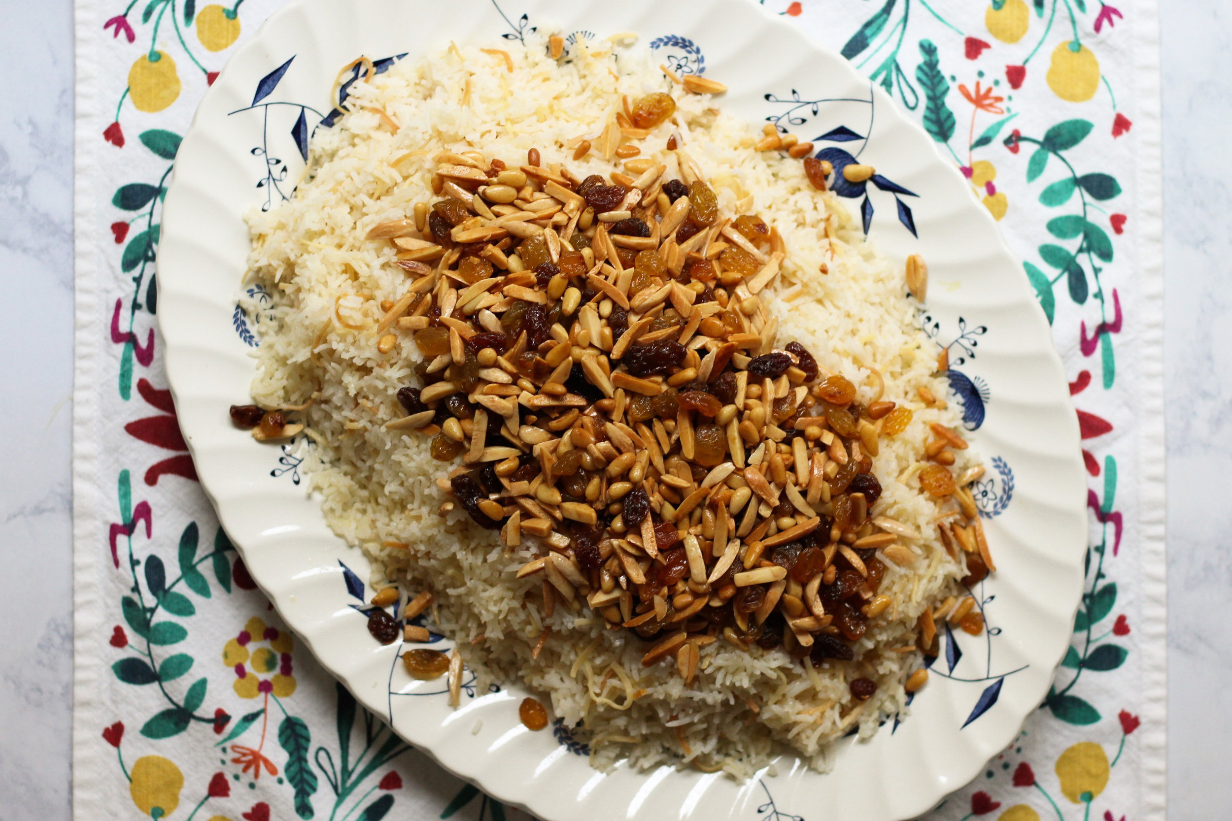riza sh'ariyeh (rice with toasted vermicelli noodles)