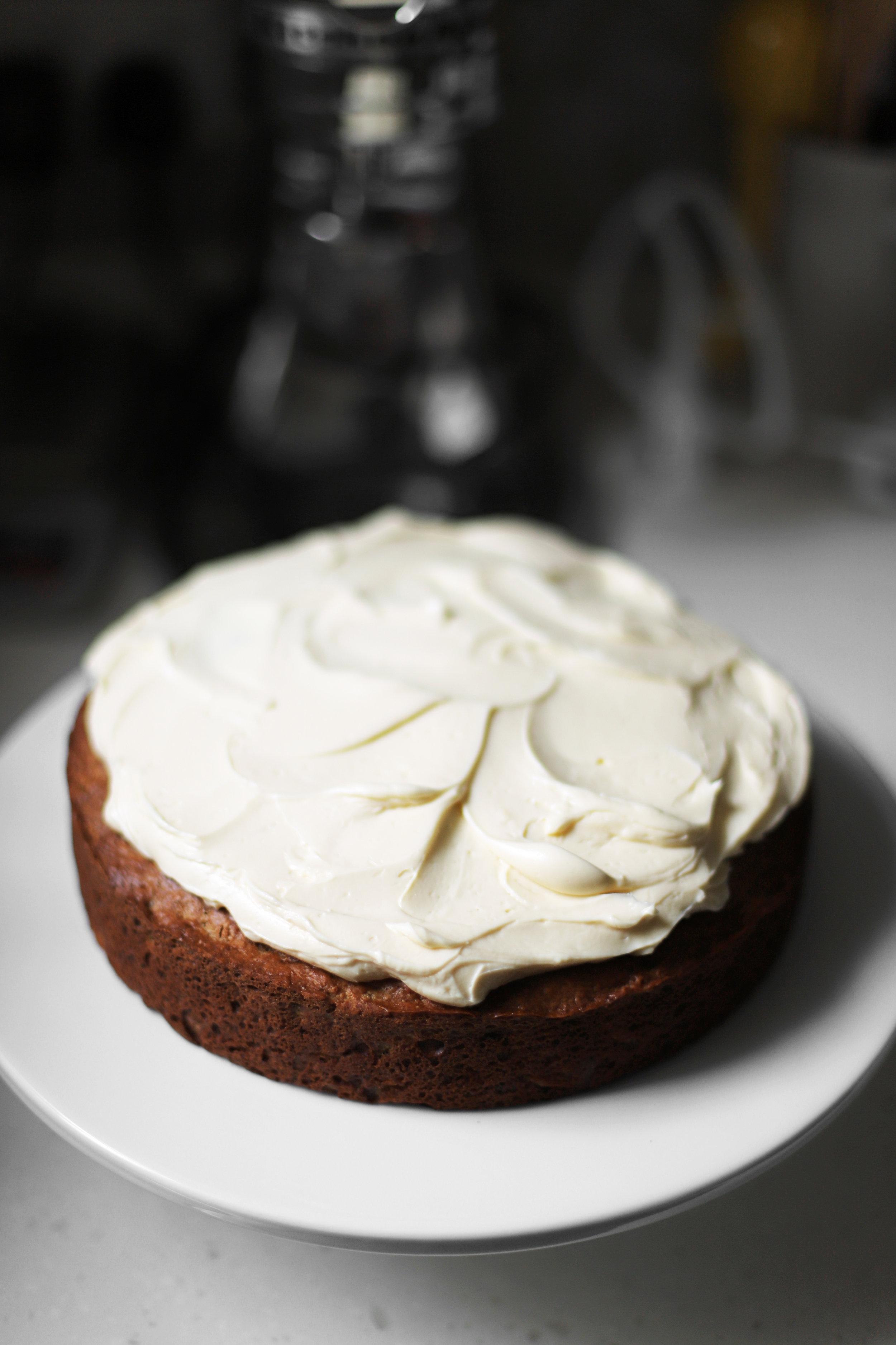 Julia Turshen's applesauce cake