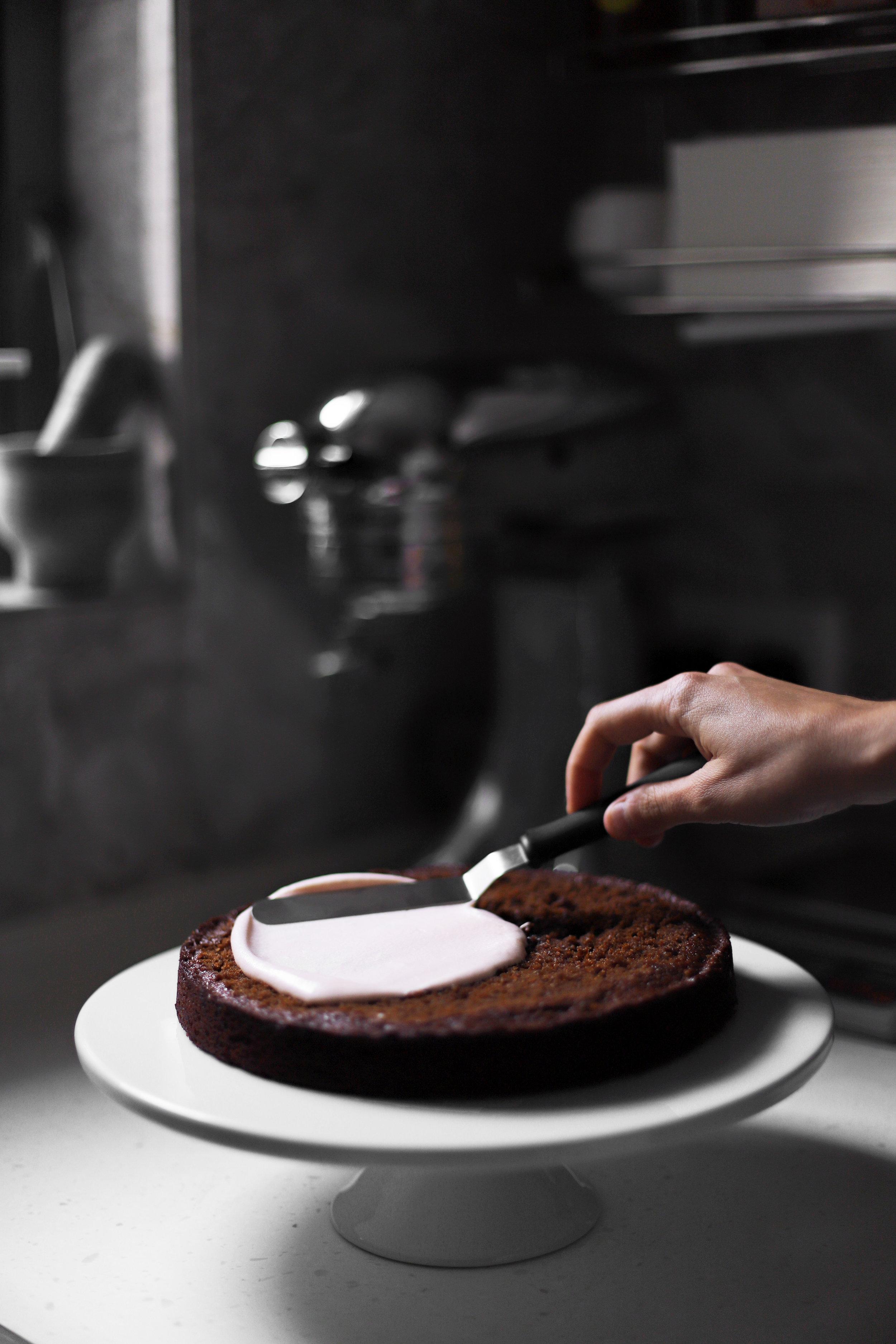 cardamom rosewater gingerbread cake