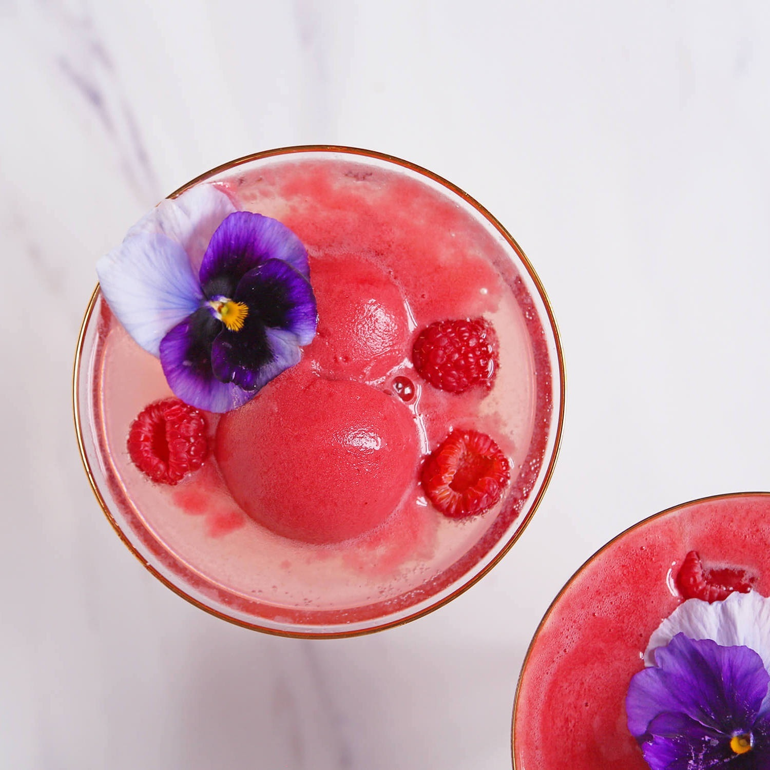 Arsenic Lace's Galentine's Day Raspberry Sorbet Bellini (photo by Natalie Jacob)