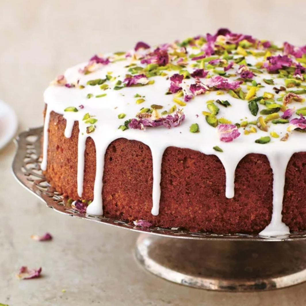 Yasmin Khan's Persian Love Cake (photo by Matt Russell, recipe by Yasmin Khan, hosted by Food & Wine)