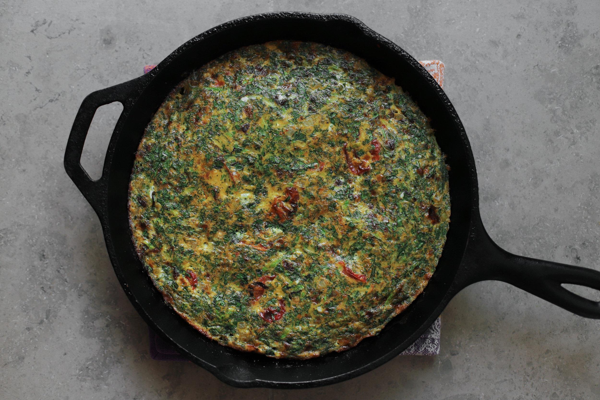 kuku sabzi-inspired frittata