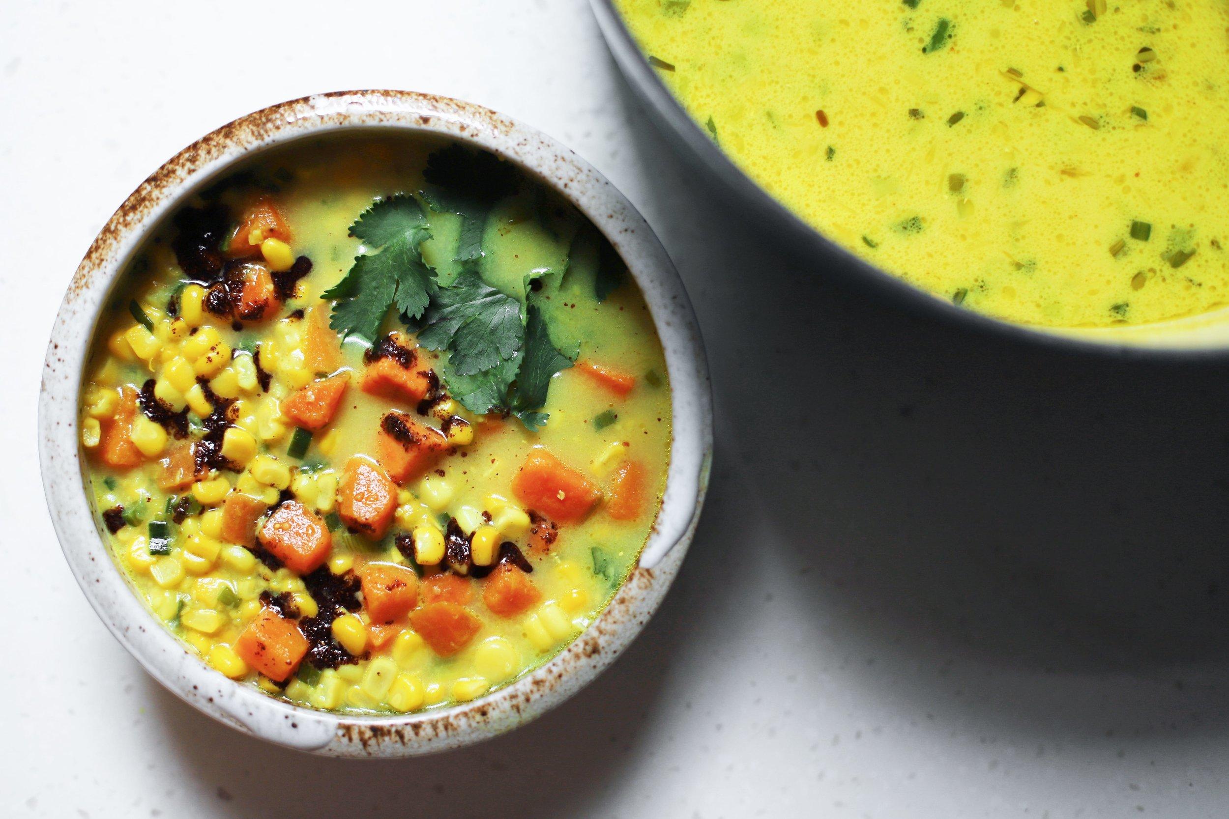 sumac corn chowder