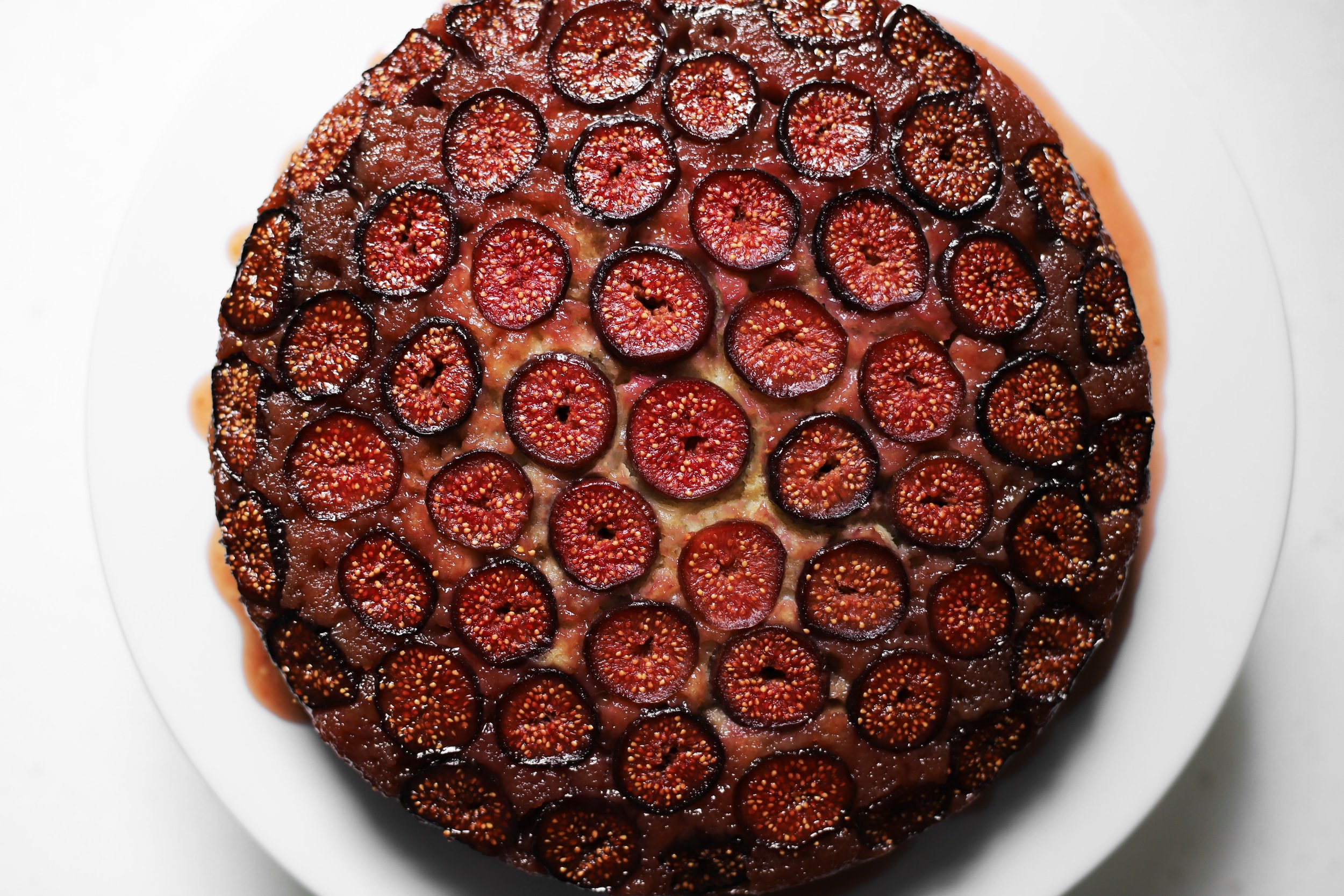 orange blossom fig upside down cake