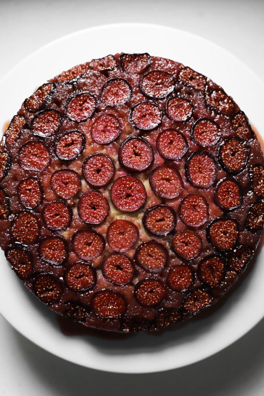 orange blossom fig upside down cake
