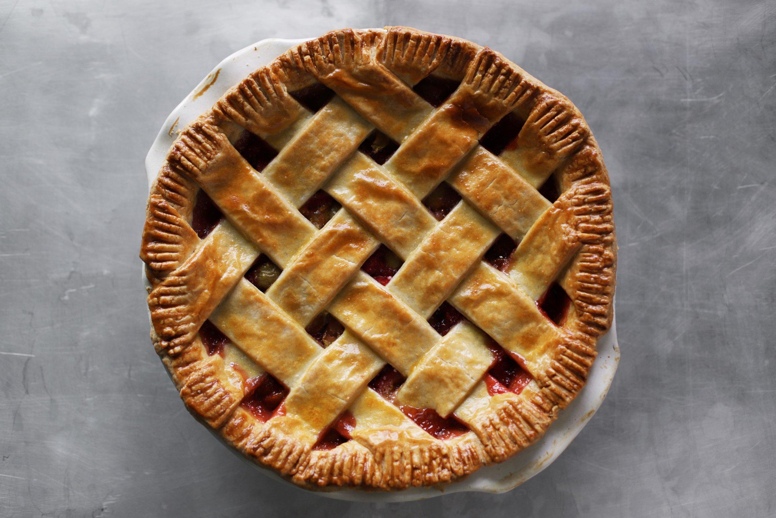 strawberry sour plum pie
