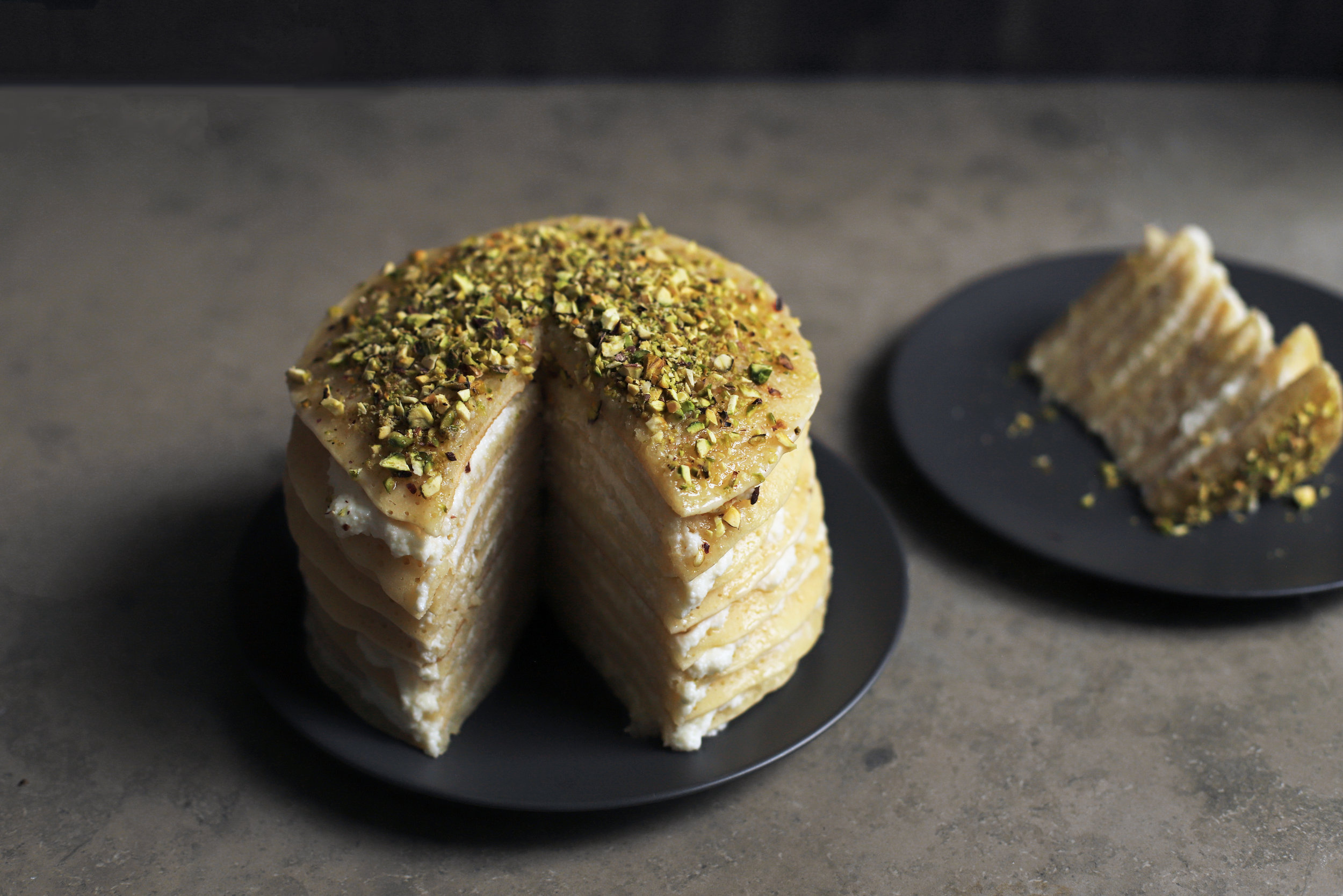 qatayef crêpe cake