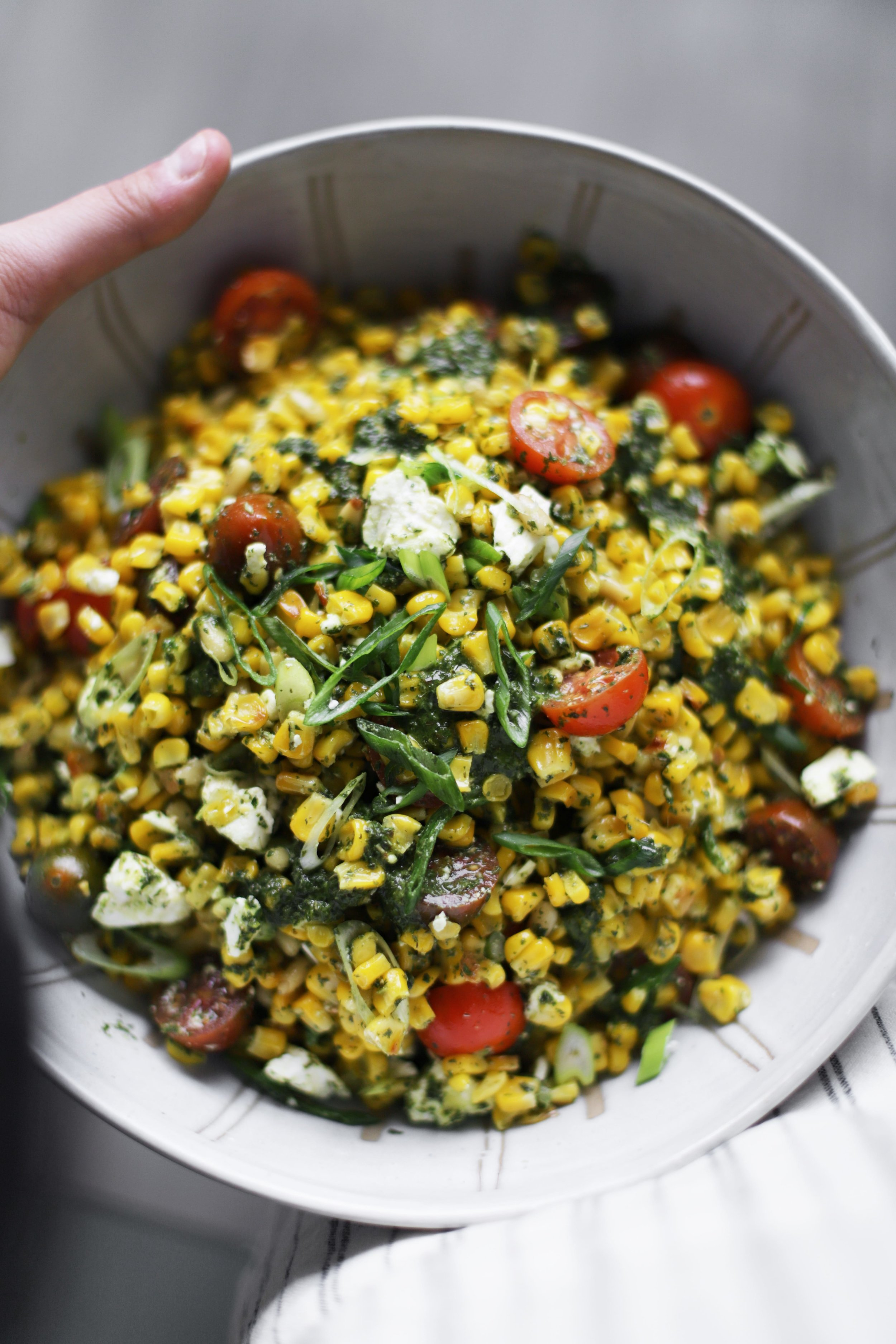 herby corn salad