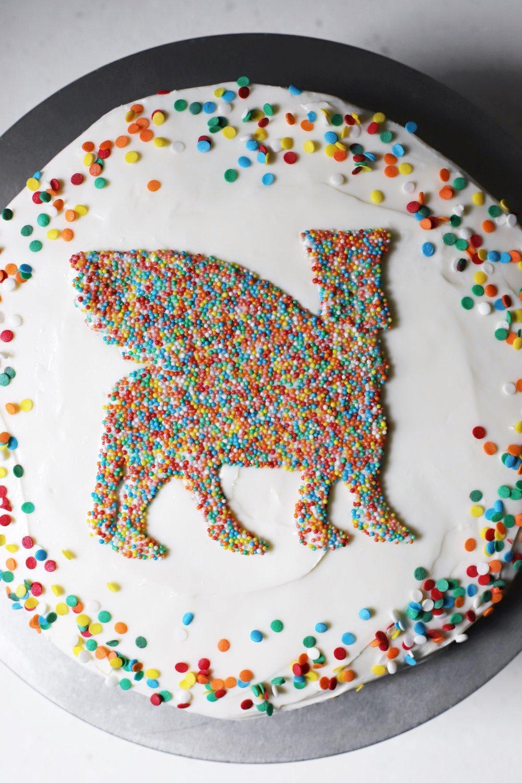 rainbow lamassu cake