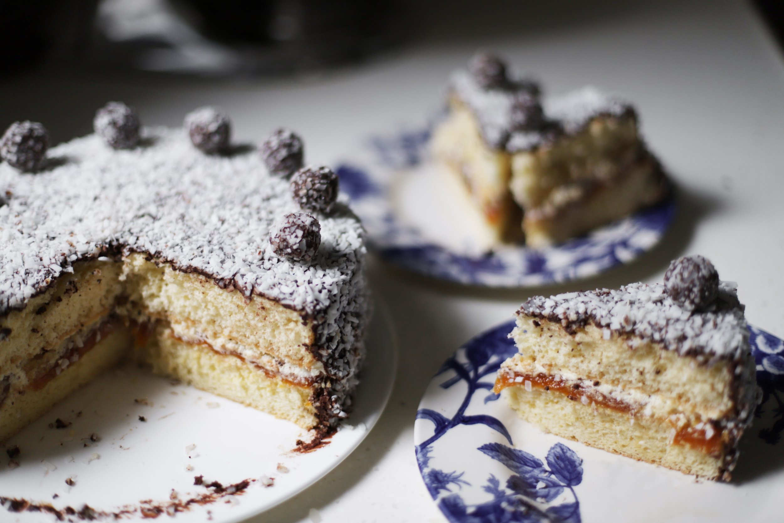 apricot lamington layer cake