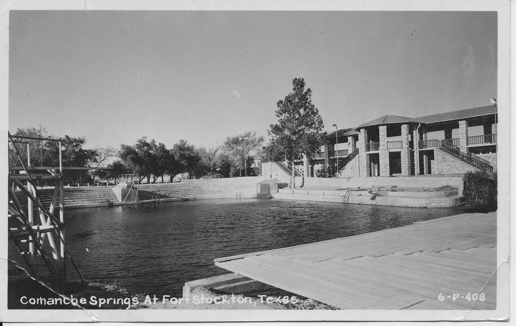Comanche Springs in 1948, when it was fed by nearly 60 million gallons a day of spring water.