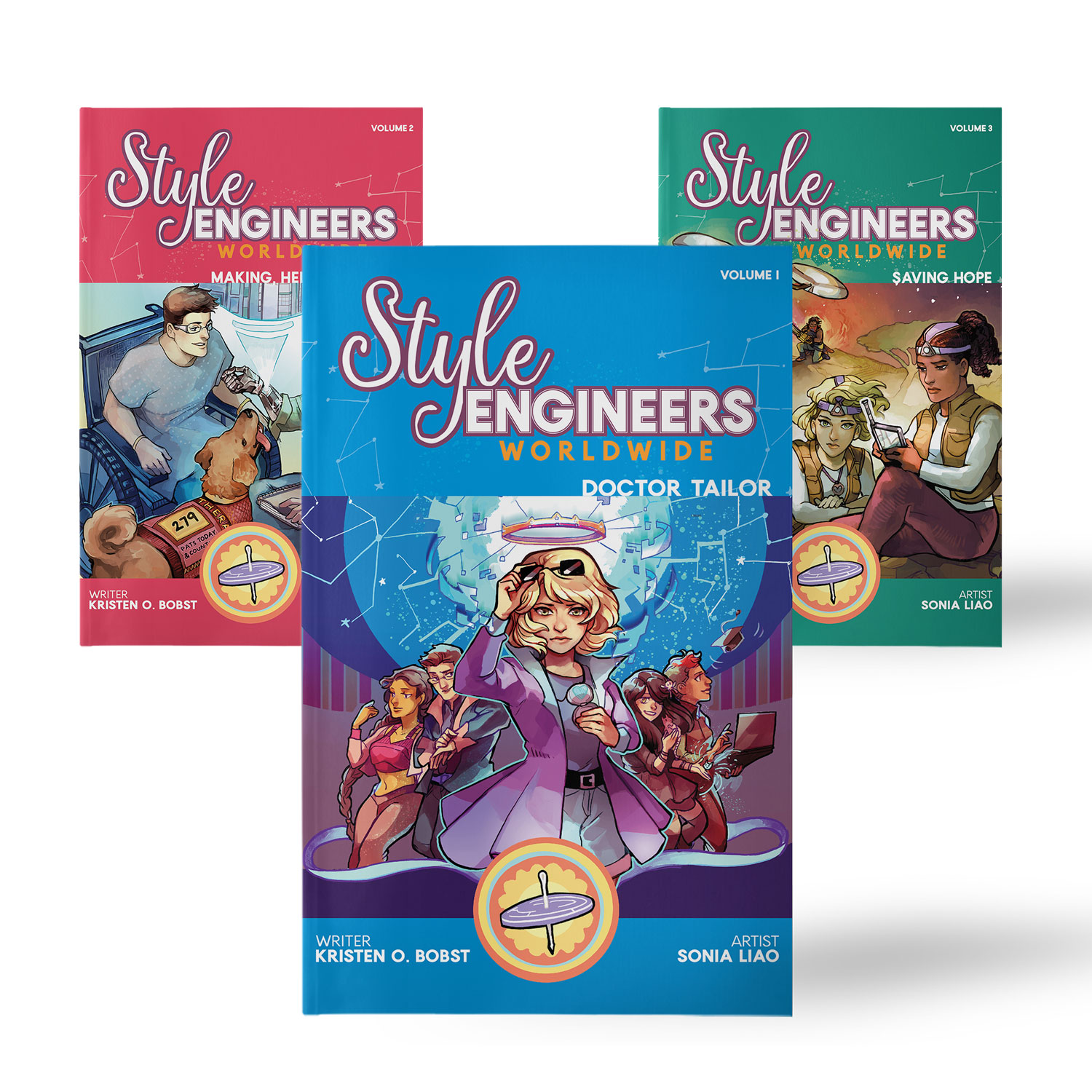 Style Engineers Worldwide - A graphic novel series with wearable tech projects about teens using fashion and technology to save the world.