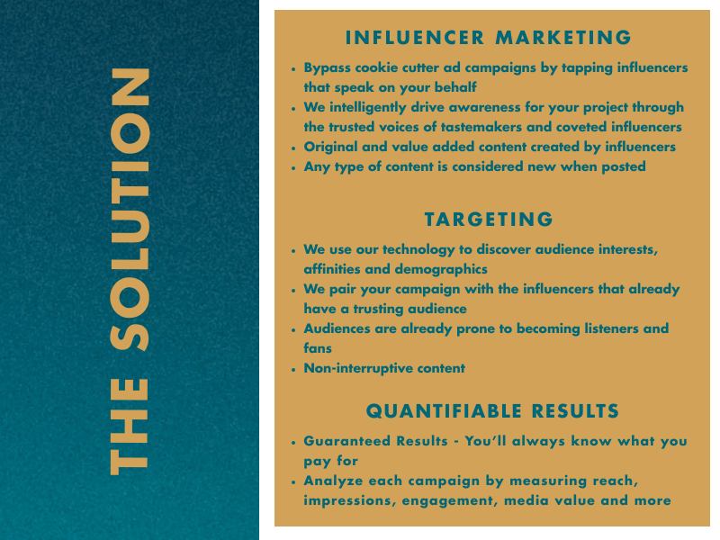 The Solution - Value Added Content | Targeted | Quantifiable