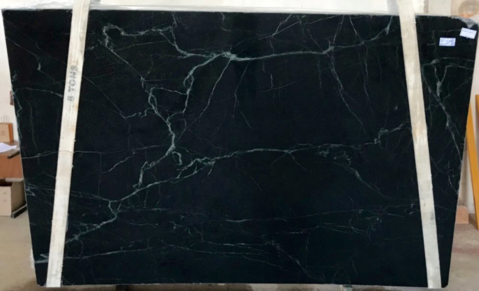 Soapstone  Rich color tones with veining are characteristic of this stone. Blues, greens, greys and black are the prevailing color palette for this selection.