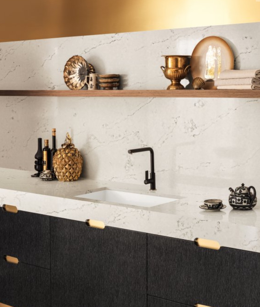 Corian  Dupont Corian Solid Surface comes in a variety of hues, tones and colors for every design sensibility and application. It's durable and easy to renew, because the colors run all the way through the material.