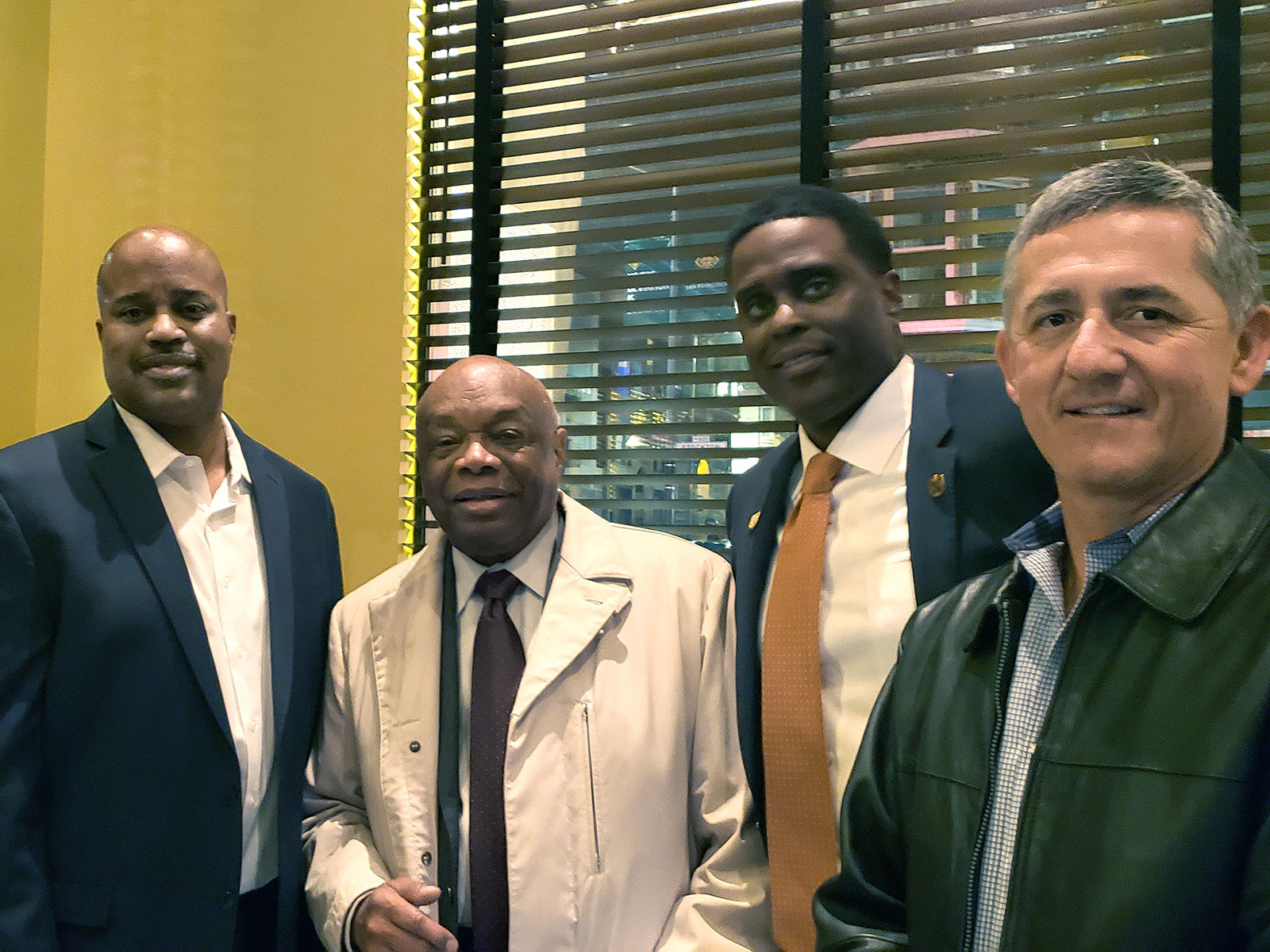 Left to Right: Vince Wells, Ex-San Francisco Mayor Willie Brown, Local 798 President Shon Buford, CPF Secretary-Treasurer Mike Lopez